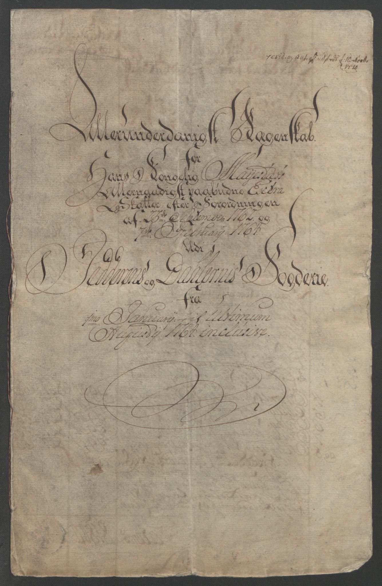 RA, Rentekammeret inntil 1814, Reviderte regnskaper, Fogderegnskap, R46/L2835: Ekstraskatten Jæren og Dalane, 1762-1764, s. 141