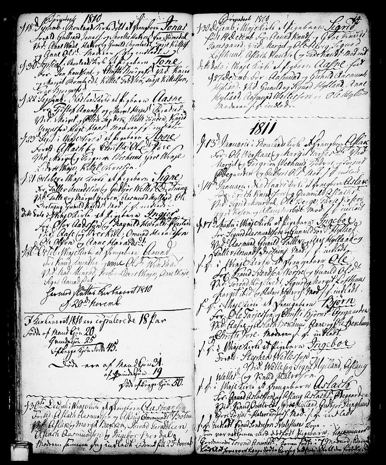 SAKO, Vinje kirkebøker, F/Fa/L0002: Ministerialbok nr. I 2, 1767-1814, s. 14
