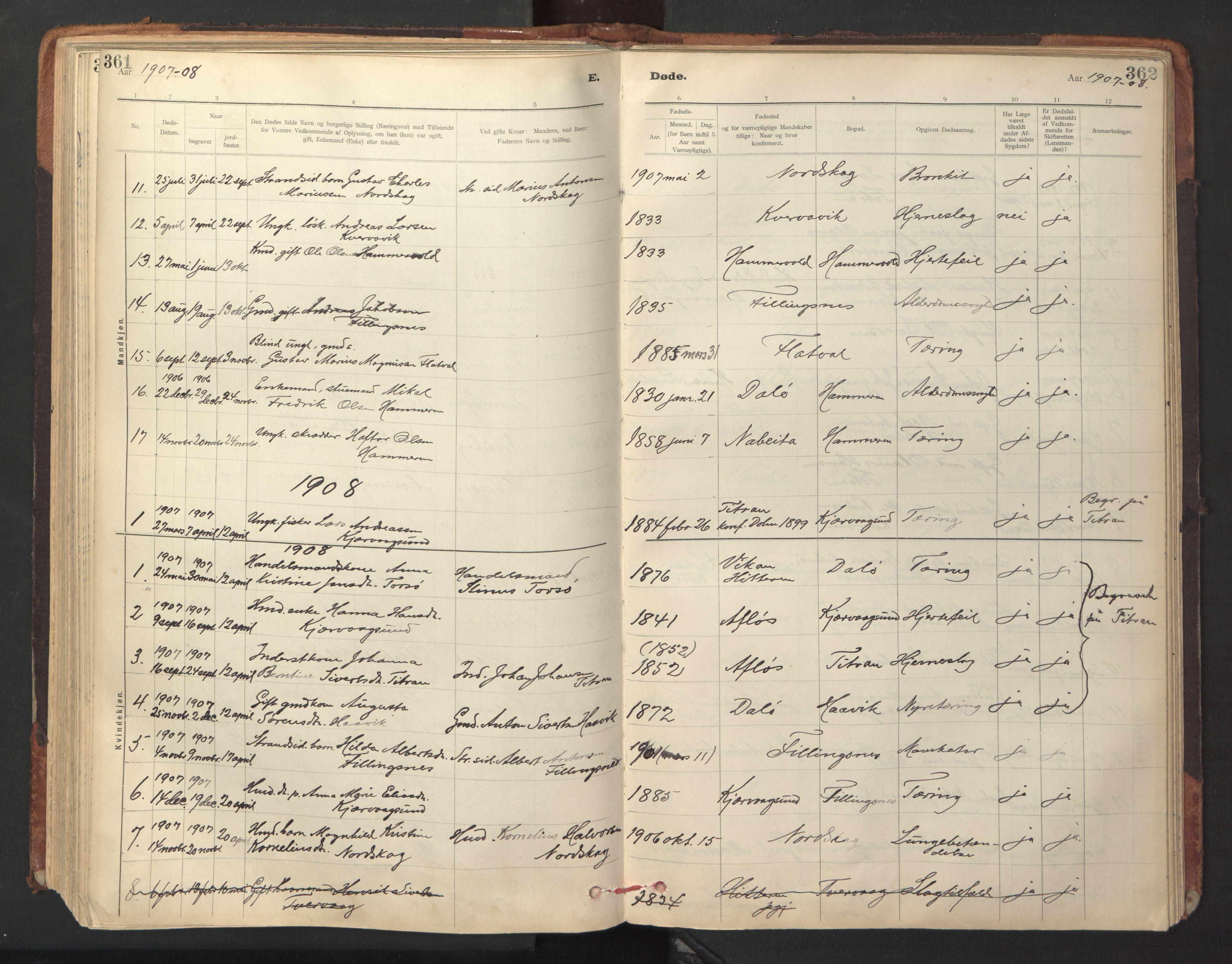 SAT, Ministerialprotokoller, klokkerbøker og fødselsregistre - Sør-Trøndelag, 641/L0596: Ministerialbok nr. 641A02, 1898-1915, s. 361-362
