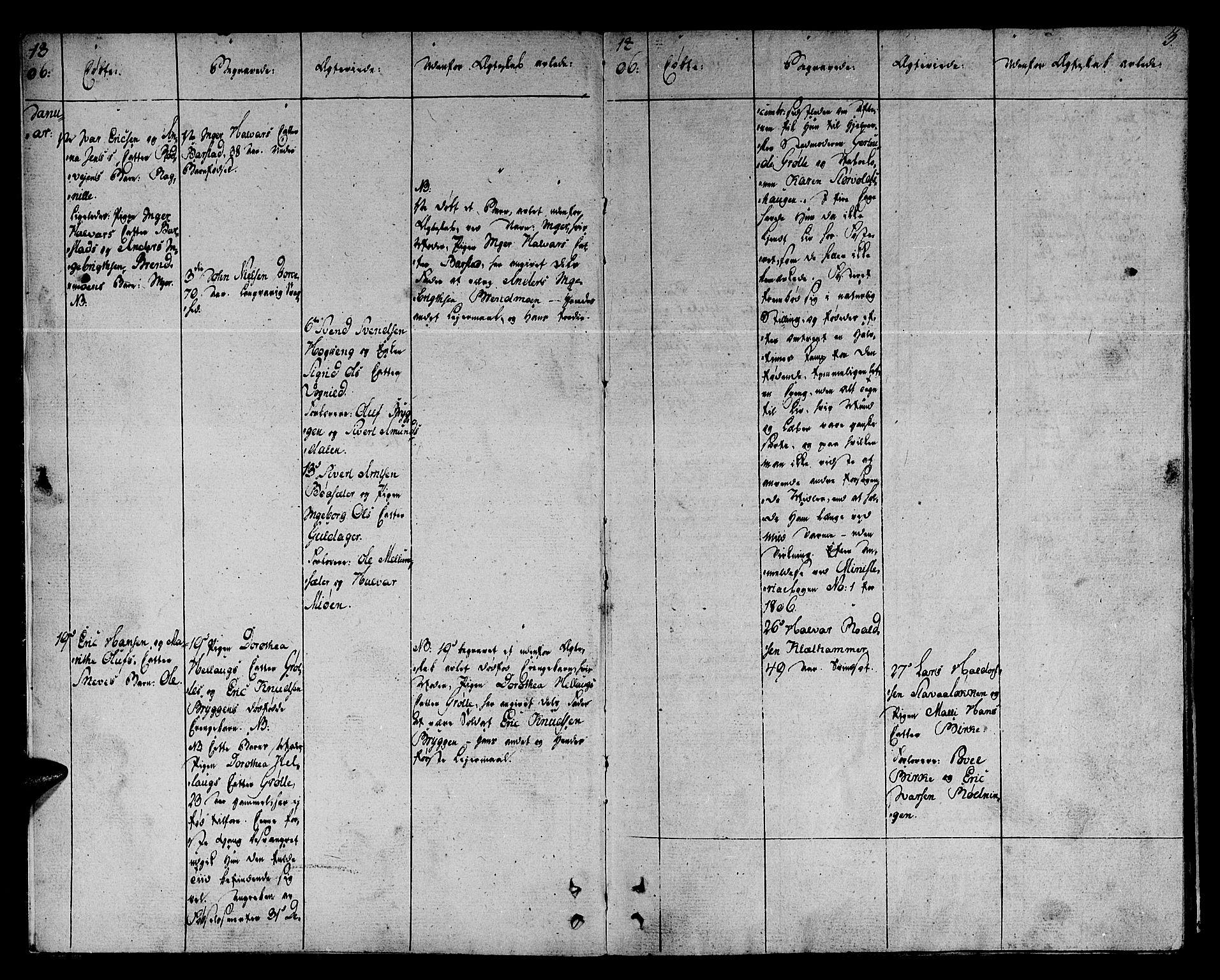 SAT, Ministerialprotokoller, klokkerbøker og fødselsregistre - Sør-Trøndelag, 678/L0894: Ministerialbok nr. 678A04, 1806-1815, s. 3