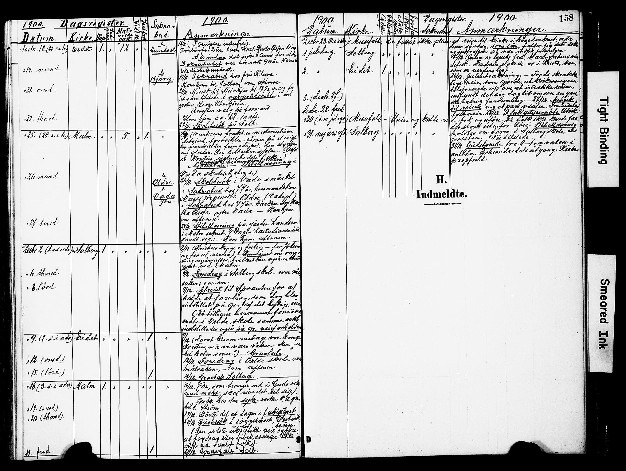 SAT, Ministerialprotokoller, klokkerbøker og fødselsregistre - Nord-Trøndelag, 741/L0396: Ministerialbok nr. 741A10, 1889-1901, s. 158