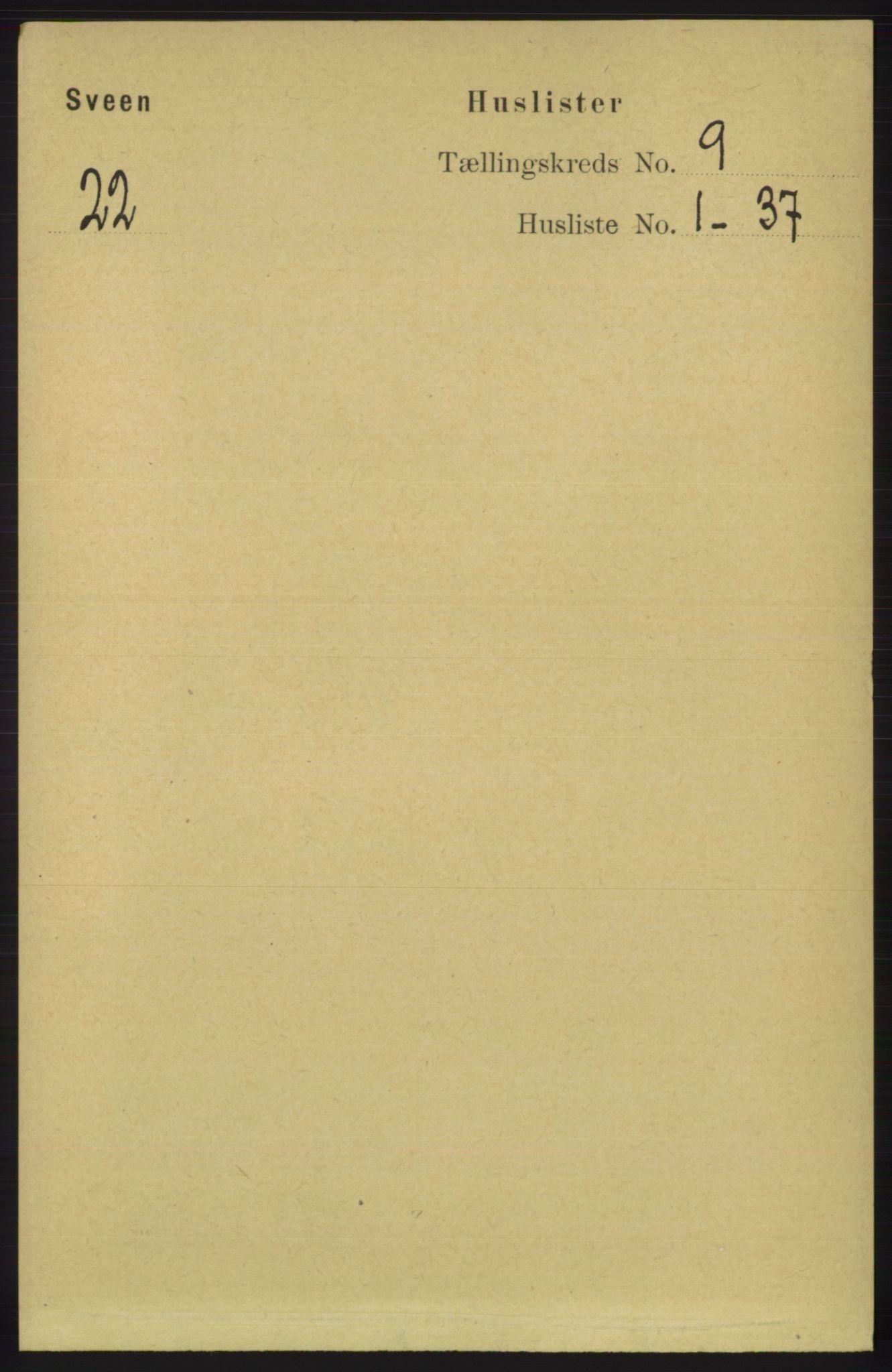 RA, Folketelling 1891 for 1216 Sveio herred, 1891, s. 2649
