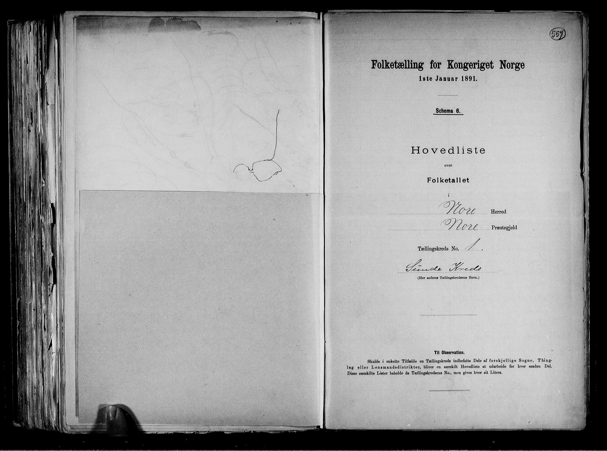 RA, Folketelling 1891 for 0633 Nore herred, 1891, s. 7