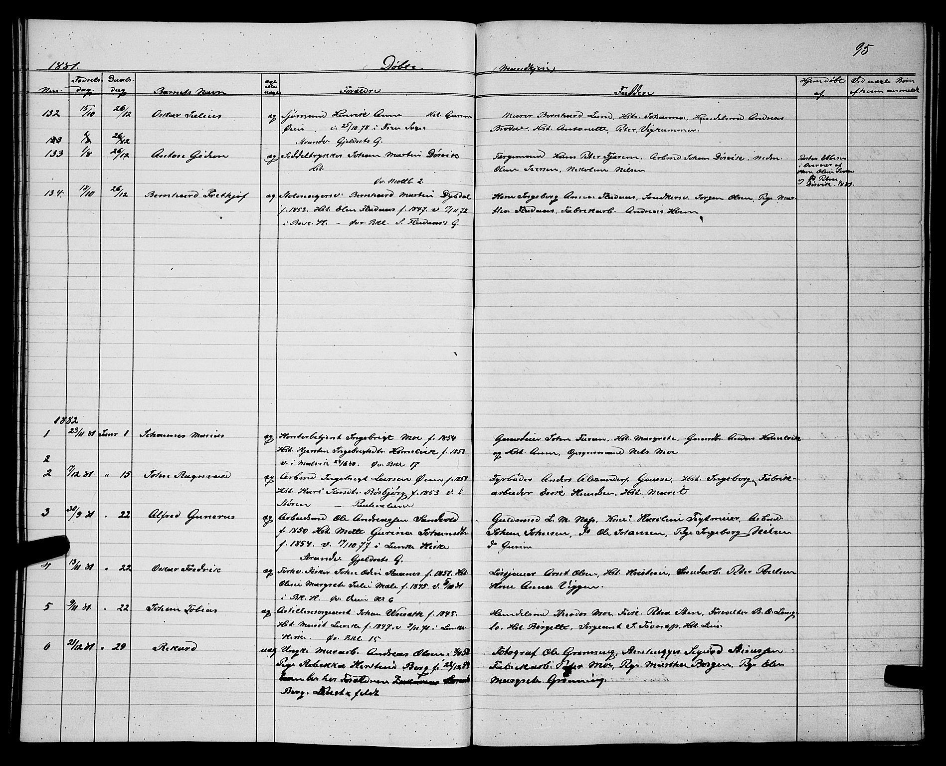 SAT, Ministerialprotokoller, klokkerbøker og fødselsregistre - Sør-Trøndelag, 604/L0220: Klokkerbok nr. 604C03, 1870-1885, s. 95