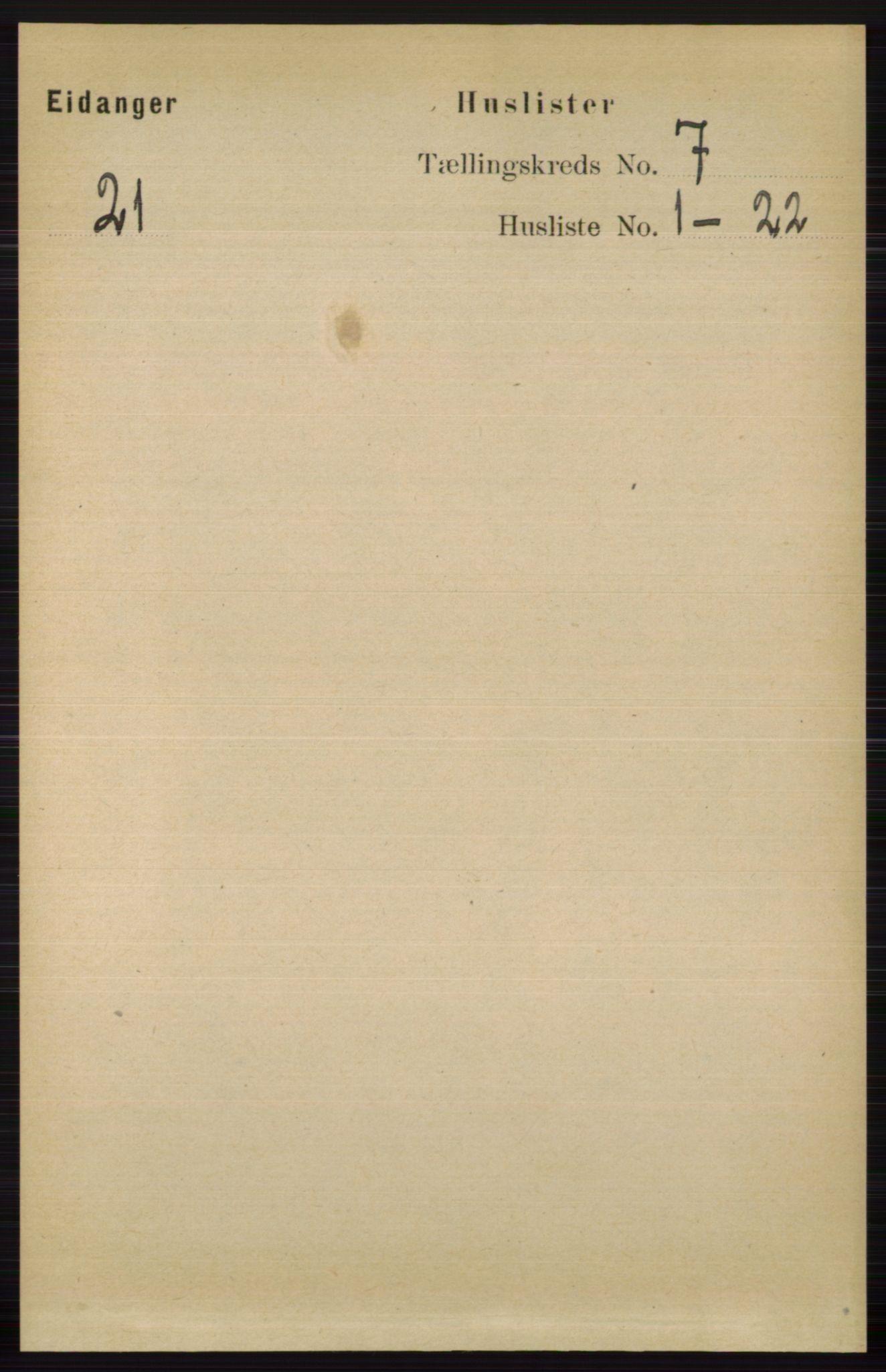 RA, Folketelling 1891 for 0813 Eidanger herred, 1891, s. 2726
