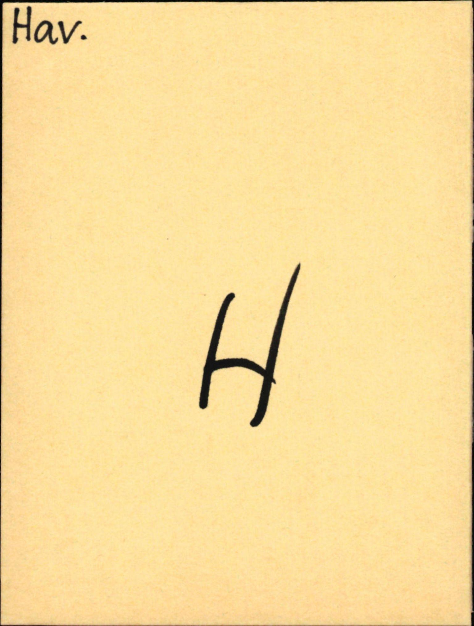 SAB, Statens vegvesen, Hordaland vegkontor, Ha/L0021: R-eierkort H, 1920-1971, s. 1