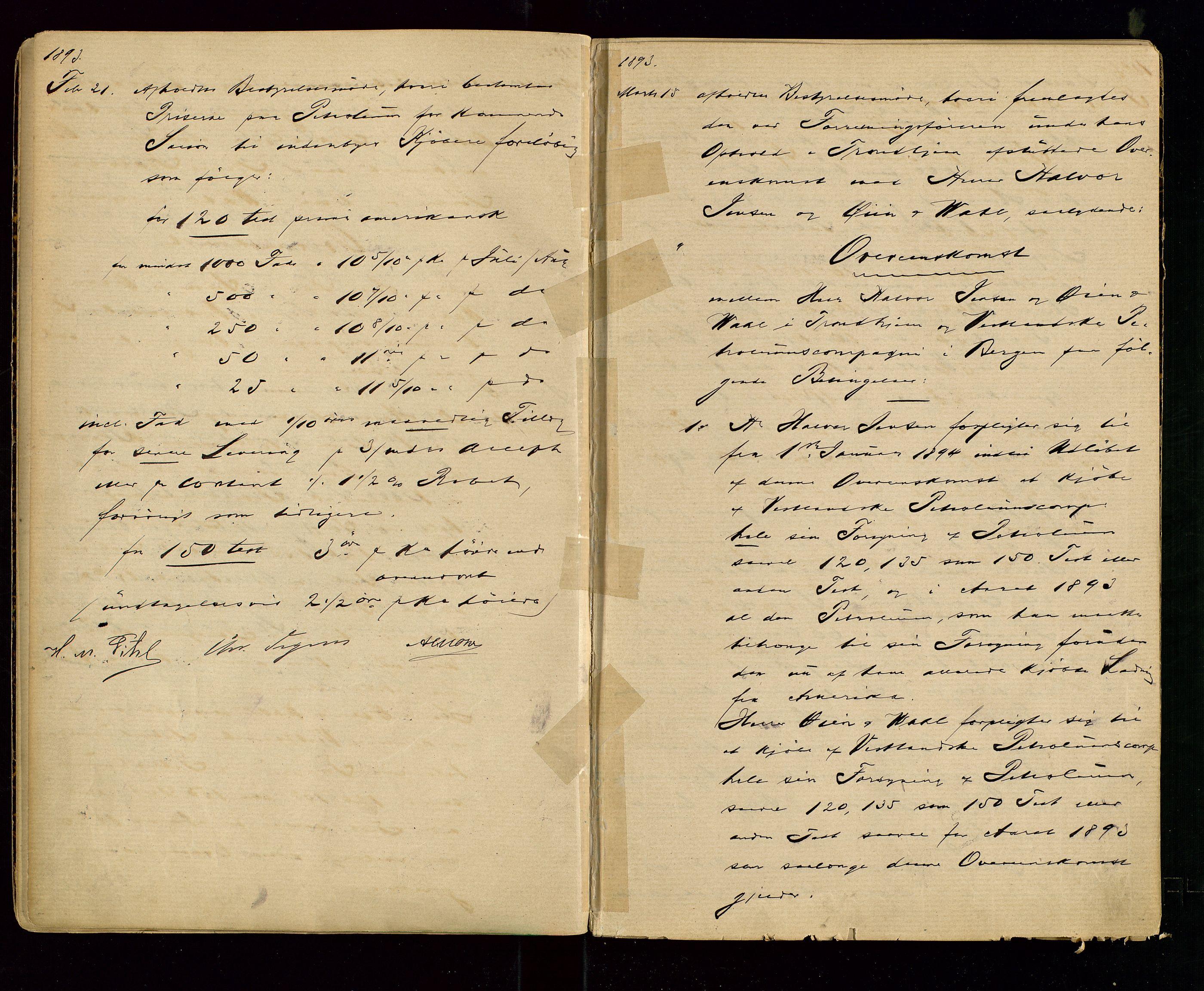 SAST, PA 1533 - A/S Vestlandske Petroleumscompani, A/Aa/L0001: Generalforsamlinger og styreprotokoller, 1890-1907, s. 11