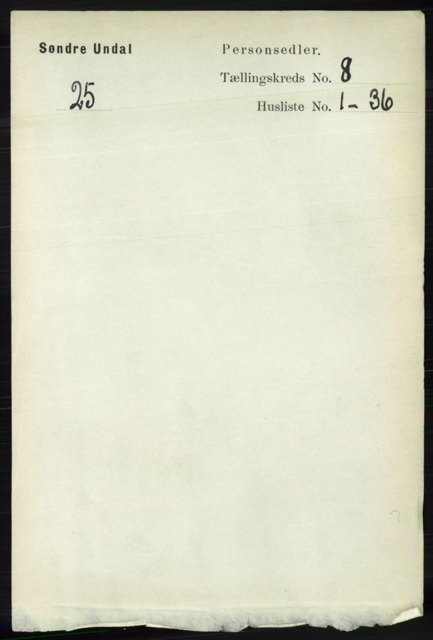 RA, Folketelling 1891 for 1029 Sør-Audnedal herred, 1891, s. 3111