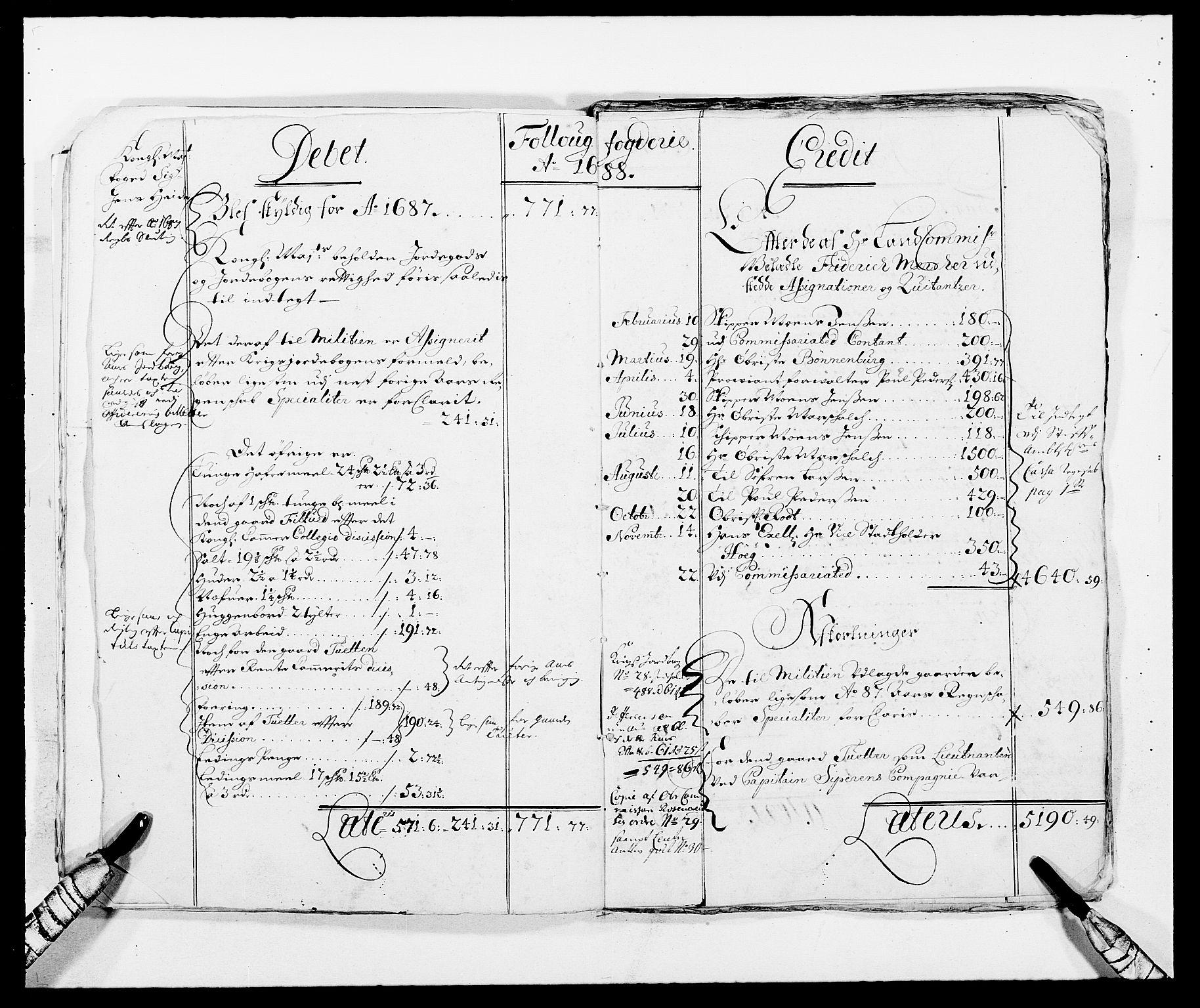 RA, Rentekammeret inntil 1814, Reviderte regnskaper, Fogderegnskap, R09/L0436: Fogderegnskap Follo, 1685-1691, s. 16