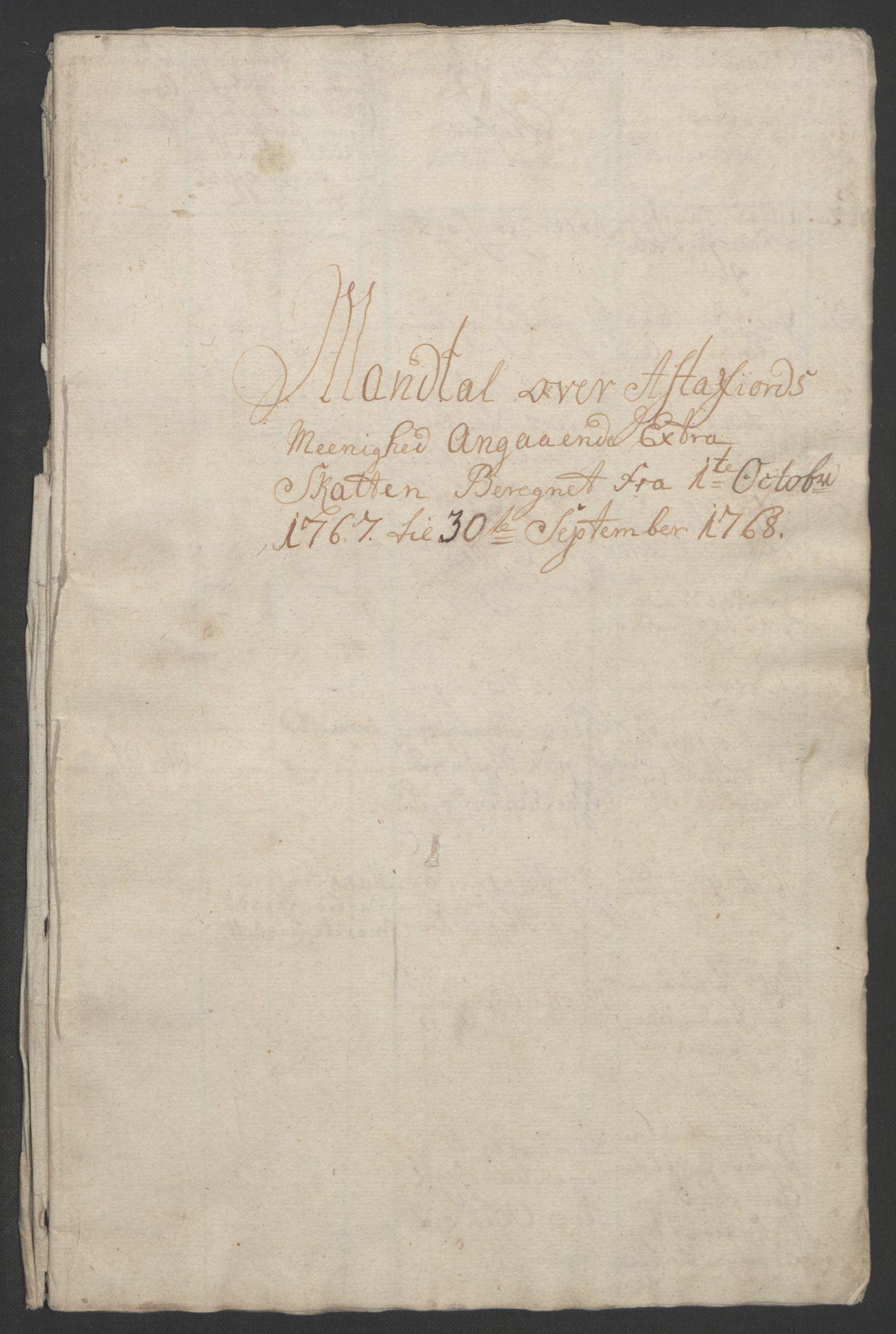 RA, Rentekammeret inntil 1814, Realistisk ordnet avdeling, Ol/L0022b: [Gg 10]: Ekstraskatten, 23.09.1762. Senja og Troms, 1765-1768, s. 282