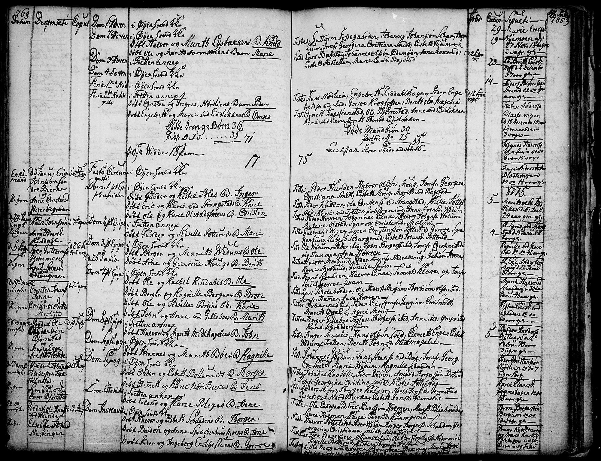 SAH, Øyer prestekontor, Ministerialbok nr. 2, 1733-1784, s. 264-265