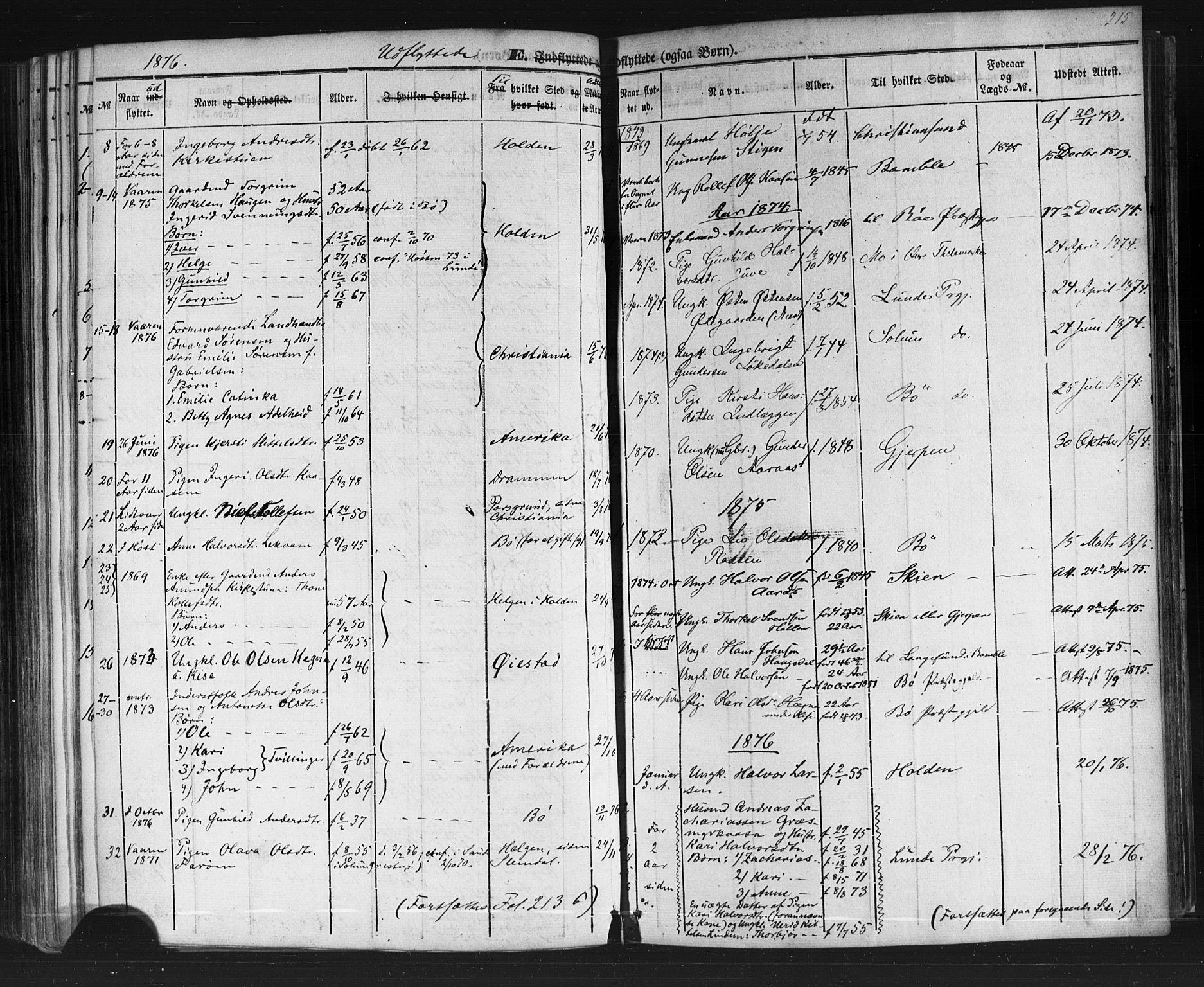 SAKO, Sauherad kirkebøker, F/Fb/L0001: Ministerialbok nr. II 1, 1851-1877, s. 215
