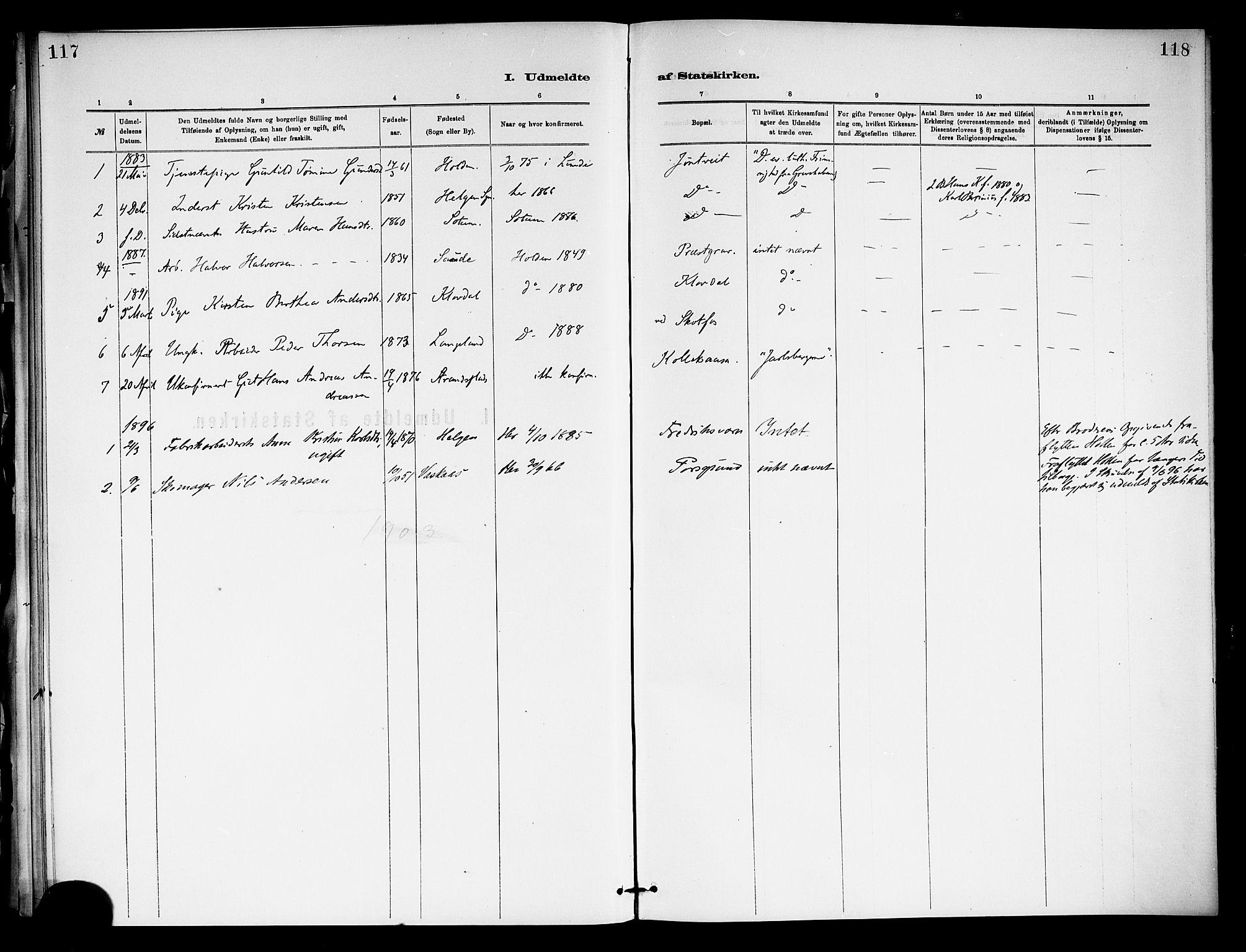 SAKO, Holla kirkebøker, F/Fa/L0009: Ministerialbok nr. 9, 1881-1897, s. 117