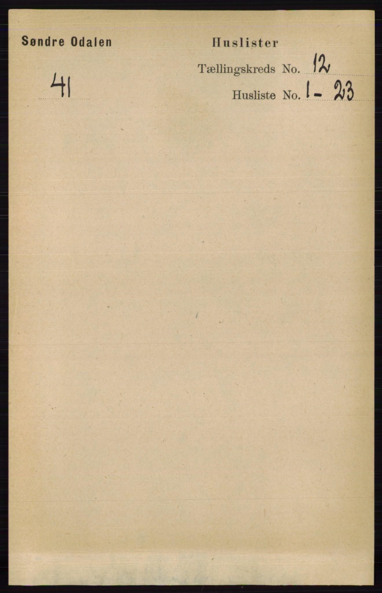 RA, Folketelling 1891 for 0419 Sør-Odal herred, 1891, s. 5366