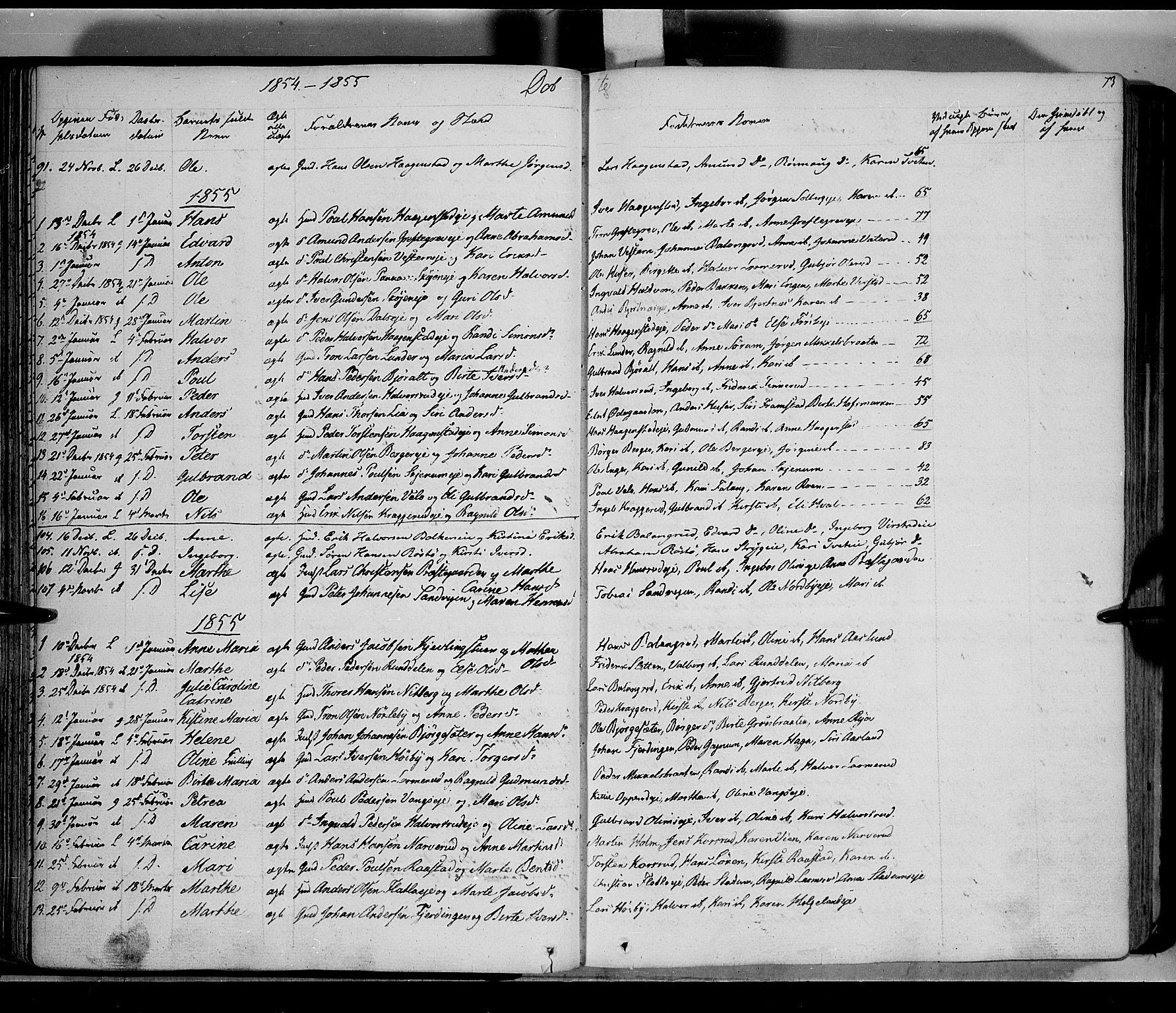 SAH, Jevnaker prestekontor, Ministerialbok nr. 6, 1837-1857, s. 73
