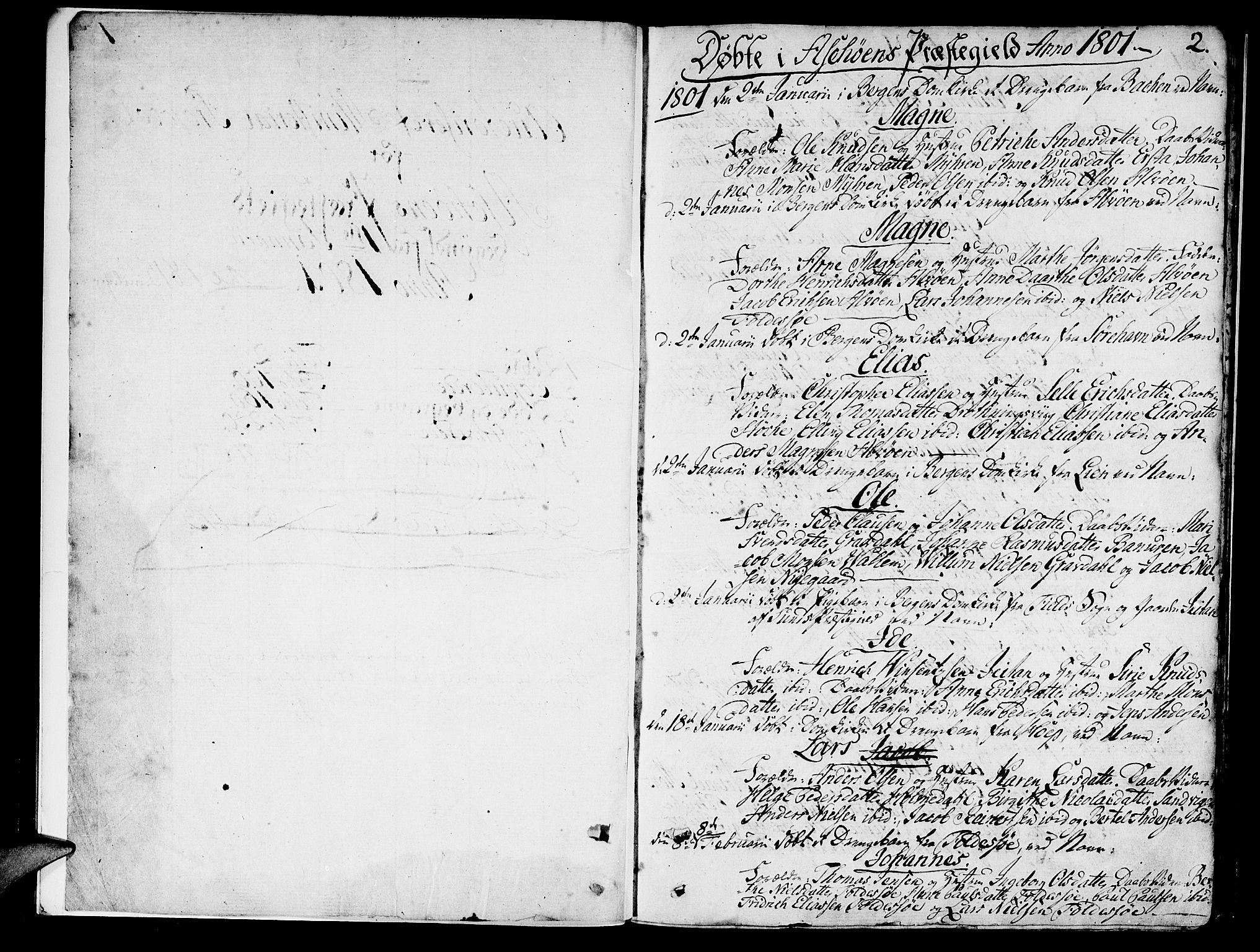 SAB, Askøy Sokneprestembete, H: Ministerialbok nr. A 2, 1801-1818, s. 2