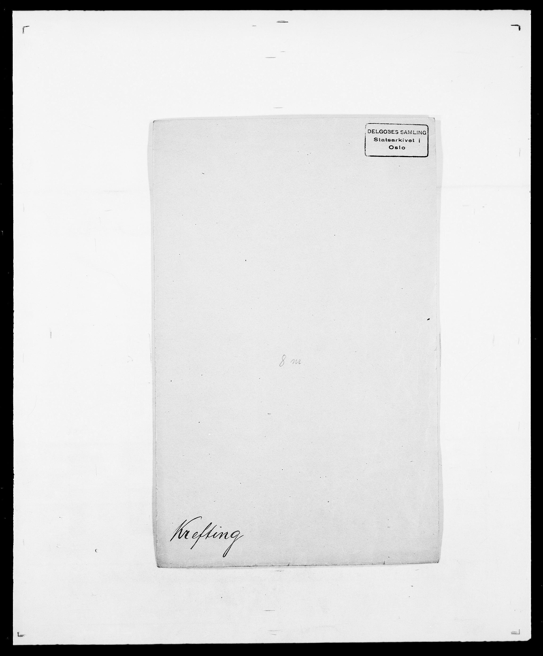 SAO, Delgobe, Charles Antoine - samling, D/Da/L0021: Klagenberg - Kristoft, s. 749
