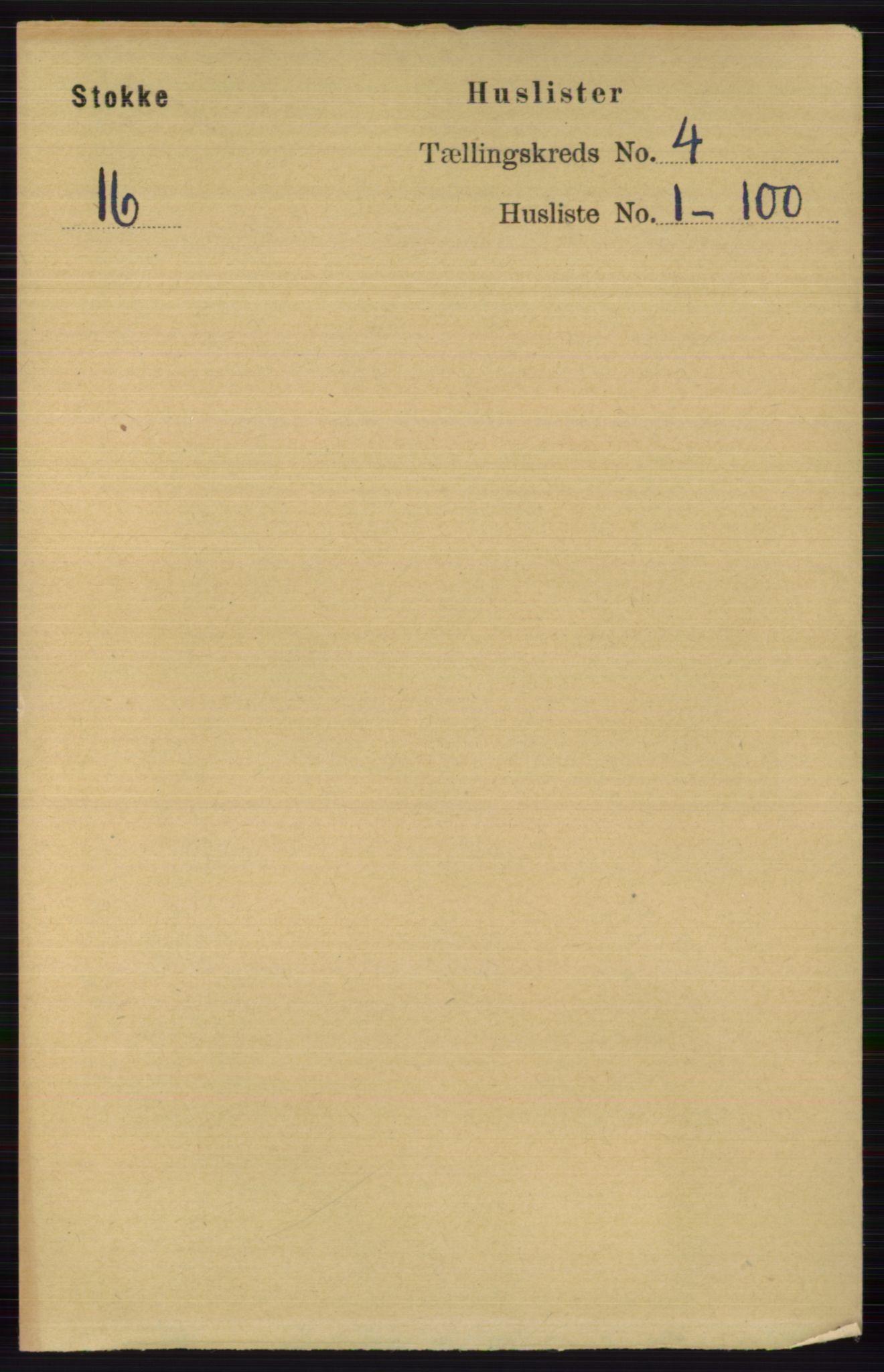 RA, Folketelling 1891 for 0720 Stokke herred, 1891, s. 2339