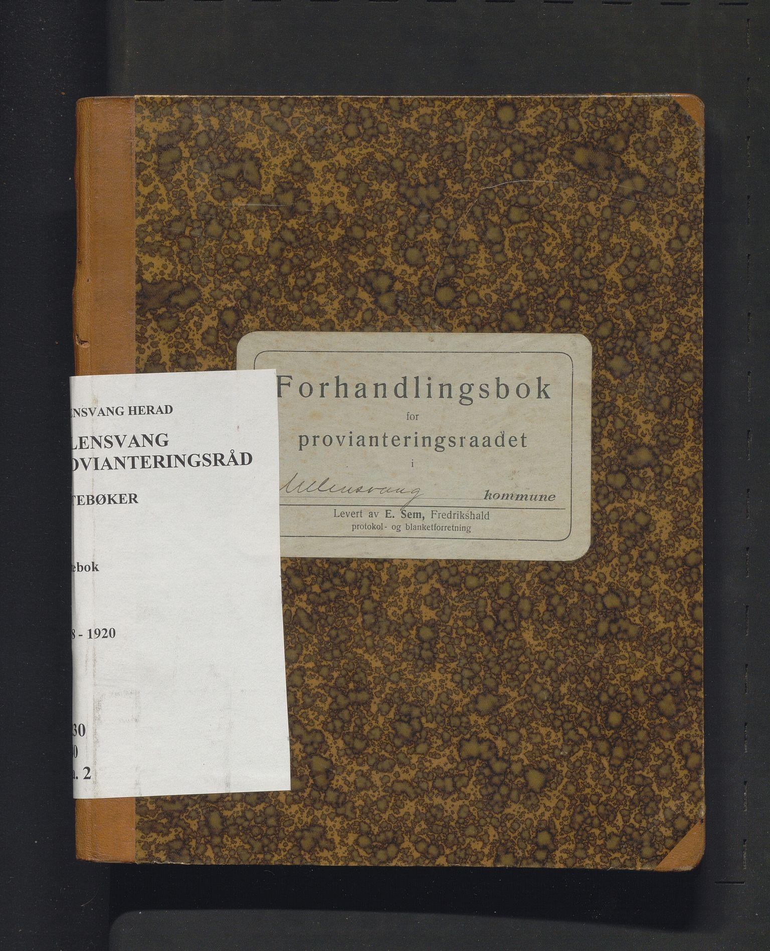 IKAH, Ullensvang herad. Provianteringsrådet , A/Aa/L0002: Møtebok for Ullensvang provianteringsråd , 1918-1920