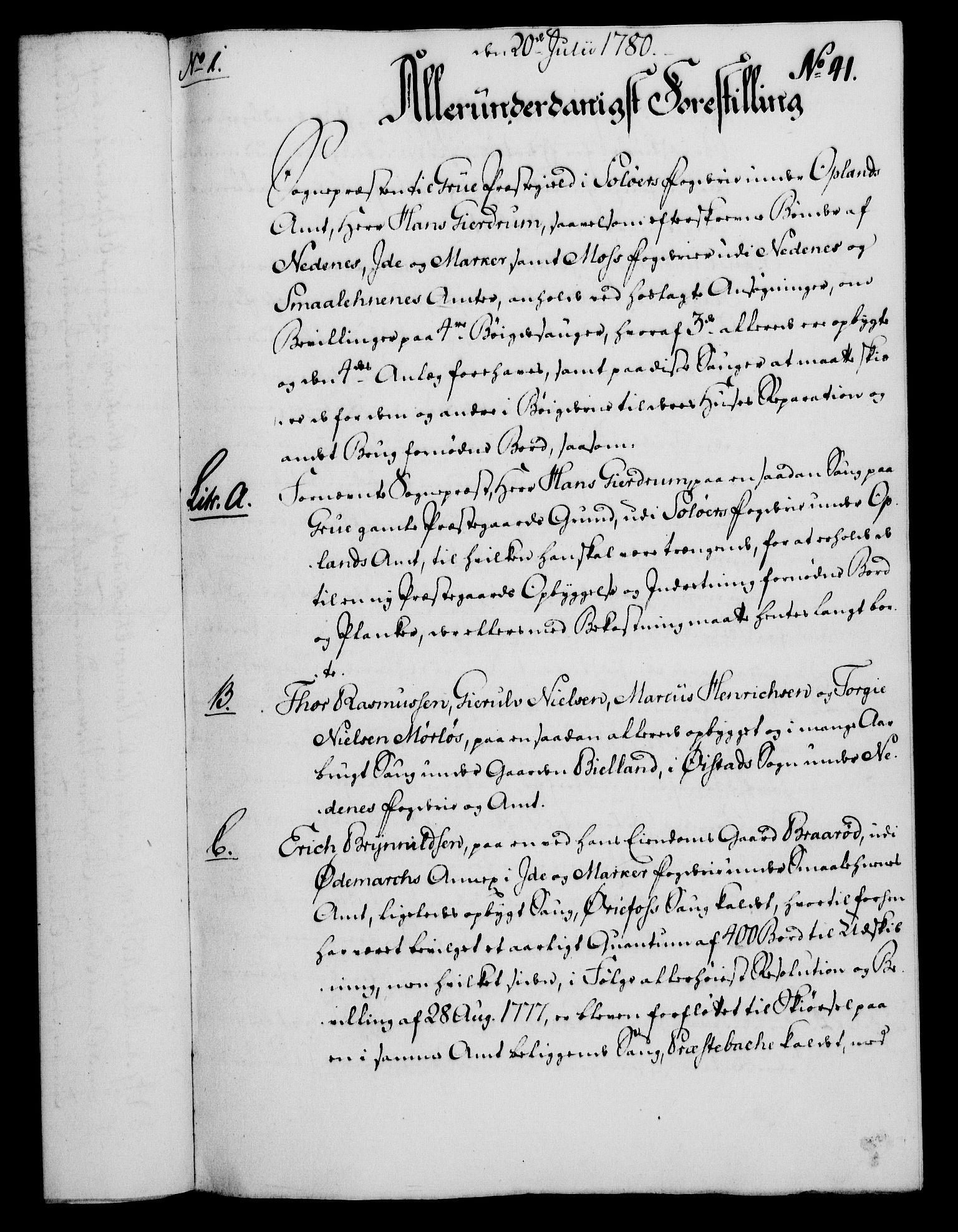 RA, Rentekammeret, Kammerkanselliet, G/Gf/Gfa/L0062: Norsk relasjons- og resolusjonsprotokoll (merket RK 52.62), 1780, s. 384
