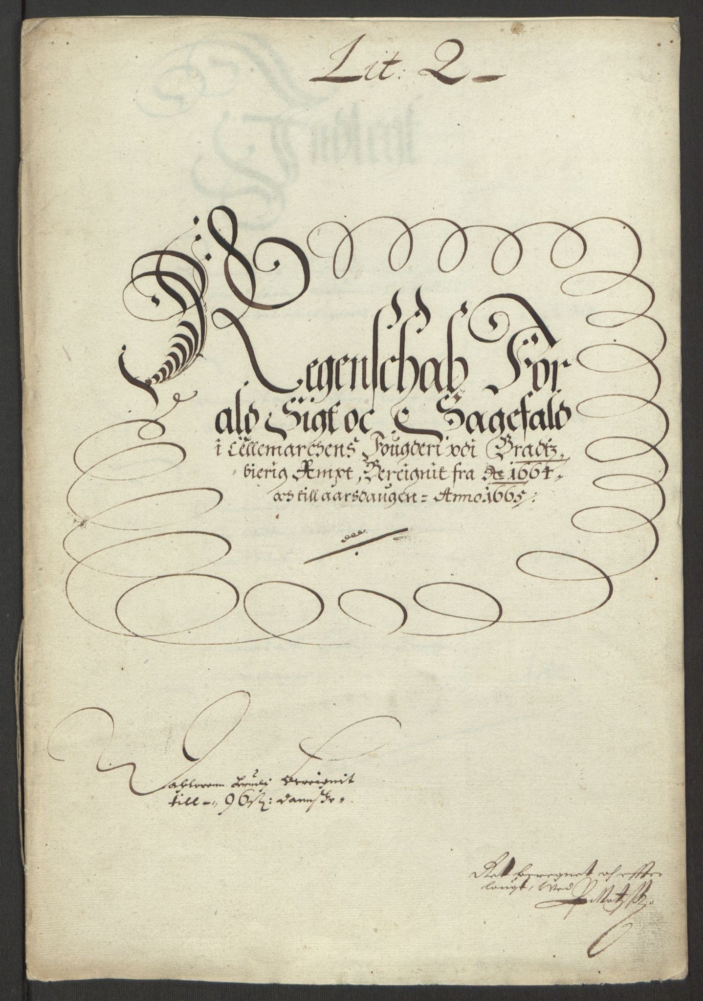 RA, Rentekammeret inntil 1814, Reviderte regnskaper, Fogderegnskap, R35/L2055: Fogderegnskap Øvre og Nedre Telemark, 1664, s. 163