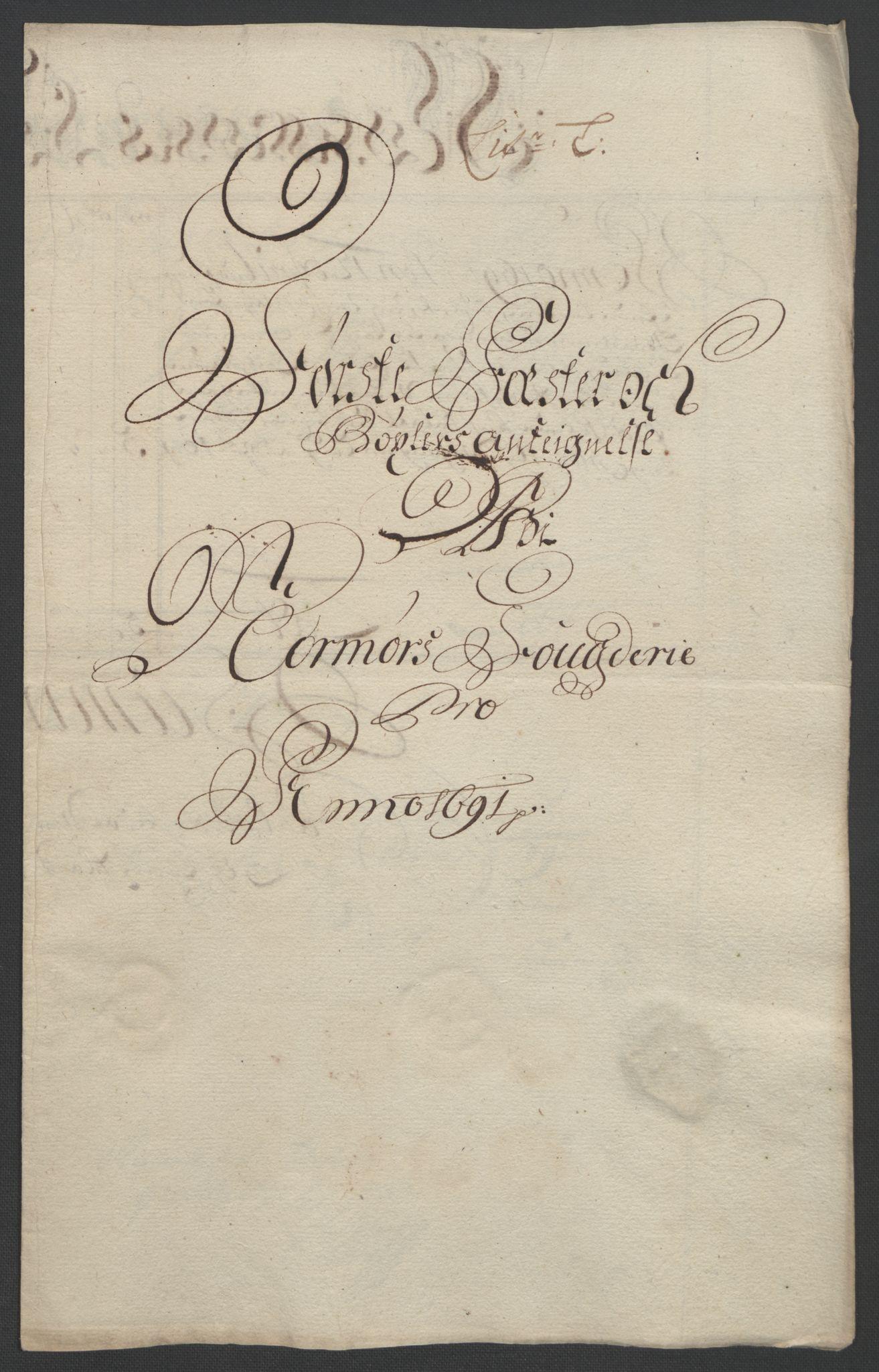 RA, Rentekammeret inntil 1814, Reviderte regnskaper, Fogderegnskap, R56/L3734: Fogderegnskap Nordmøre, 1690-1691, s. 389