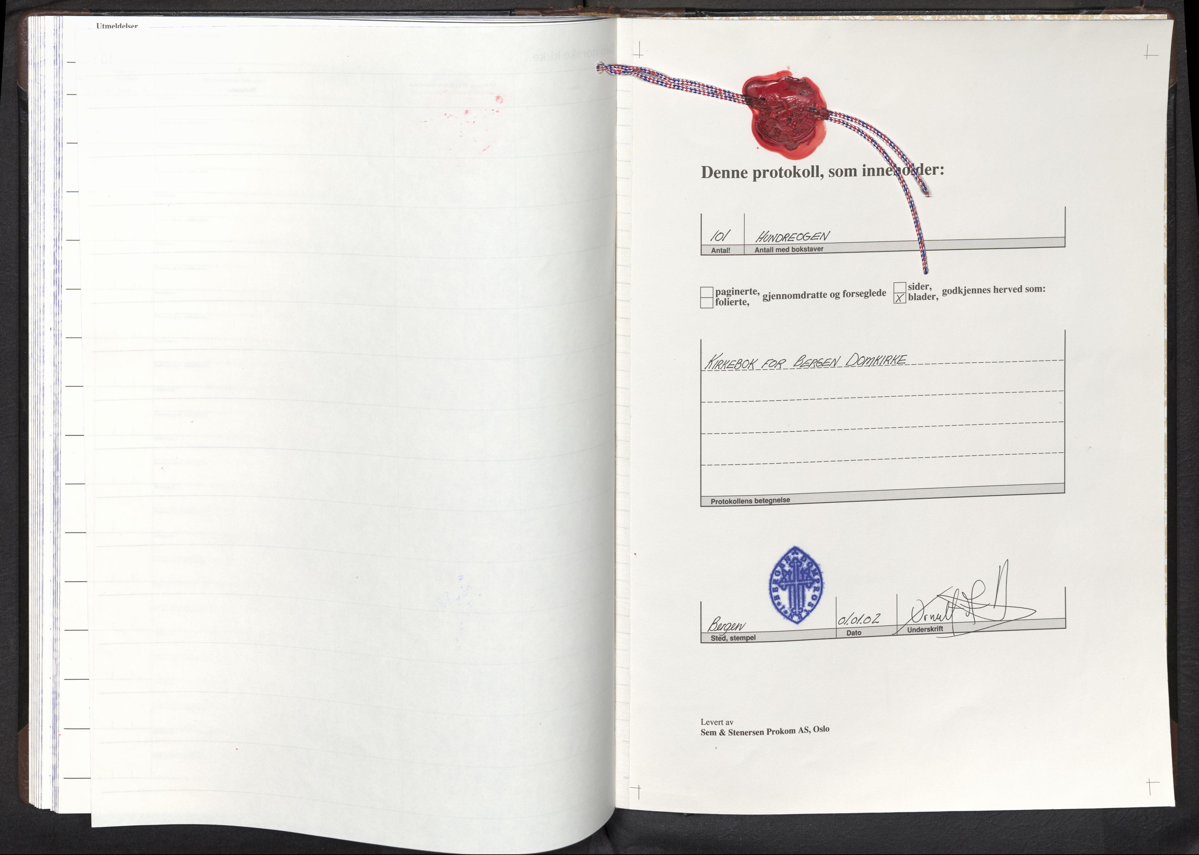 SAB, Domkirken Sokneprestembete, H/Haa: Ministerialbok nr. F 1, 2002-2011