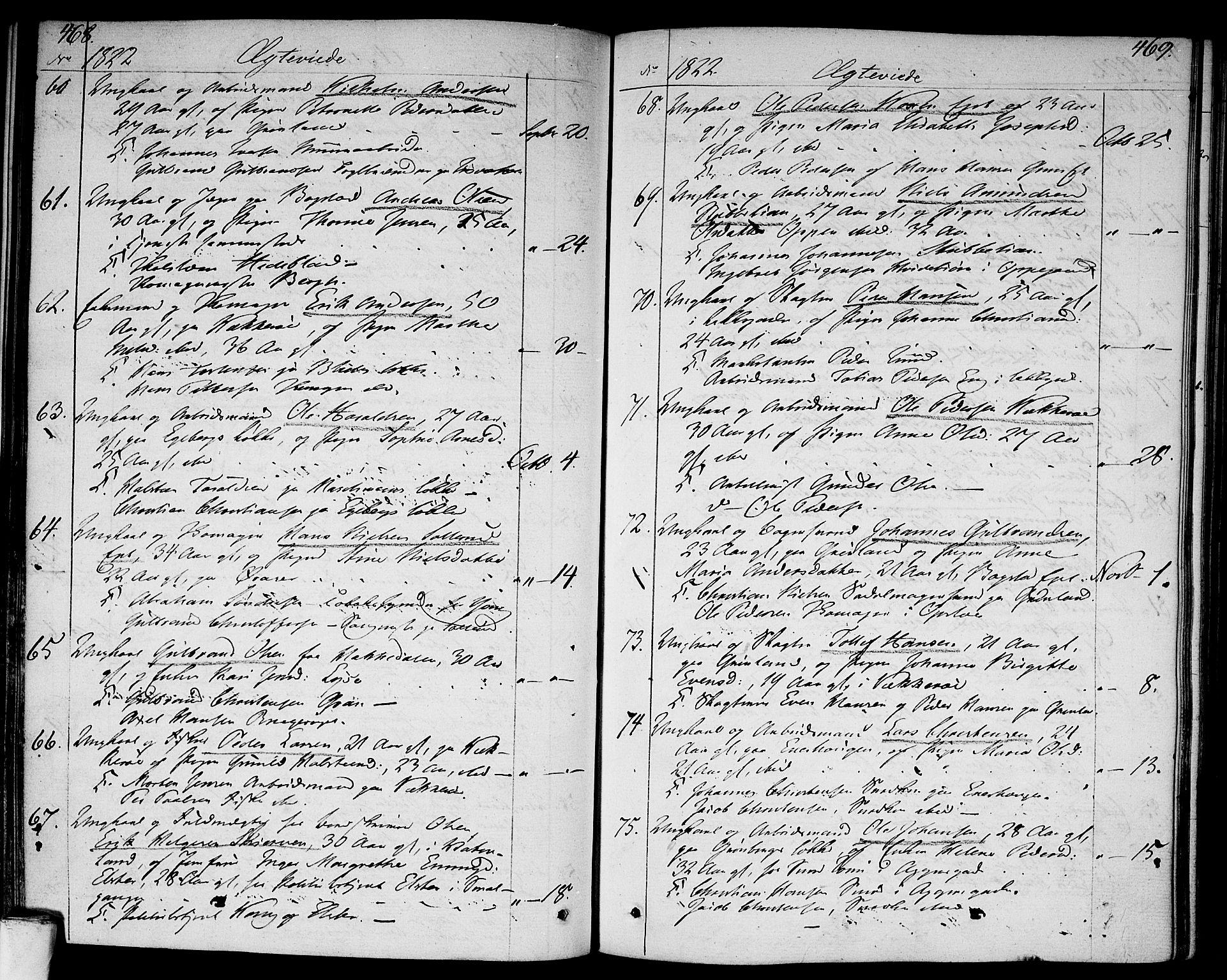 SAO, Aker prestekontor kirkebøker, F/L0012: Ministerialbok nr. 12, 1819-1828, s. 468-469