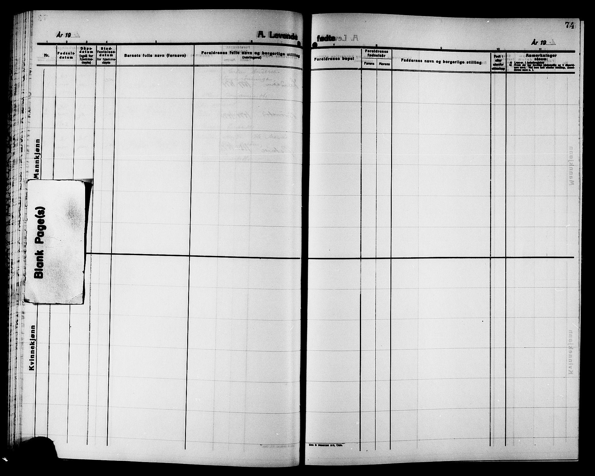 SAT, Ministerialprotokoller, klokkerbøker og fødselsregistre - Nord-Trøndelag, 749/L0487: Ministerialbok nr. 749D03, 1887-1902, s. 74