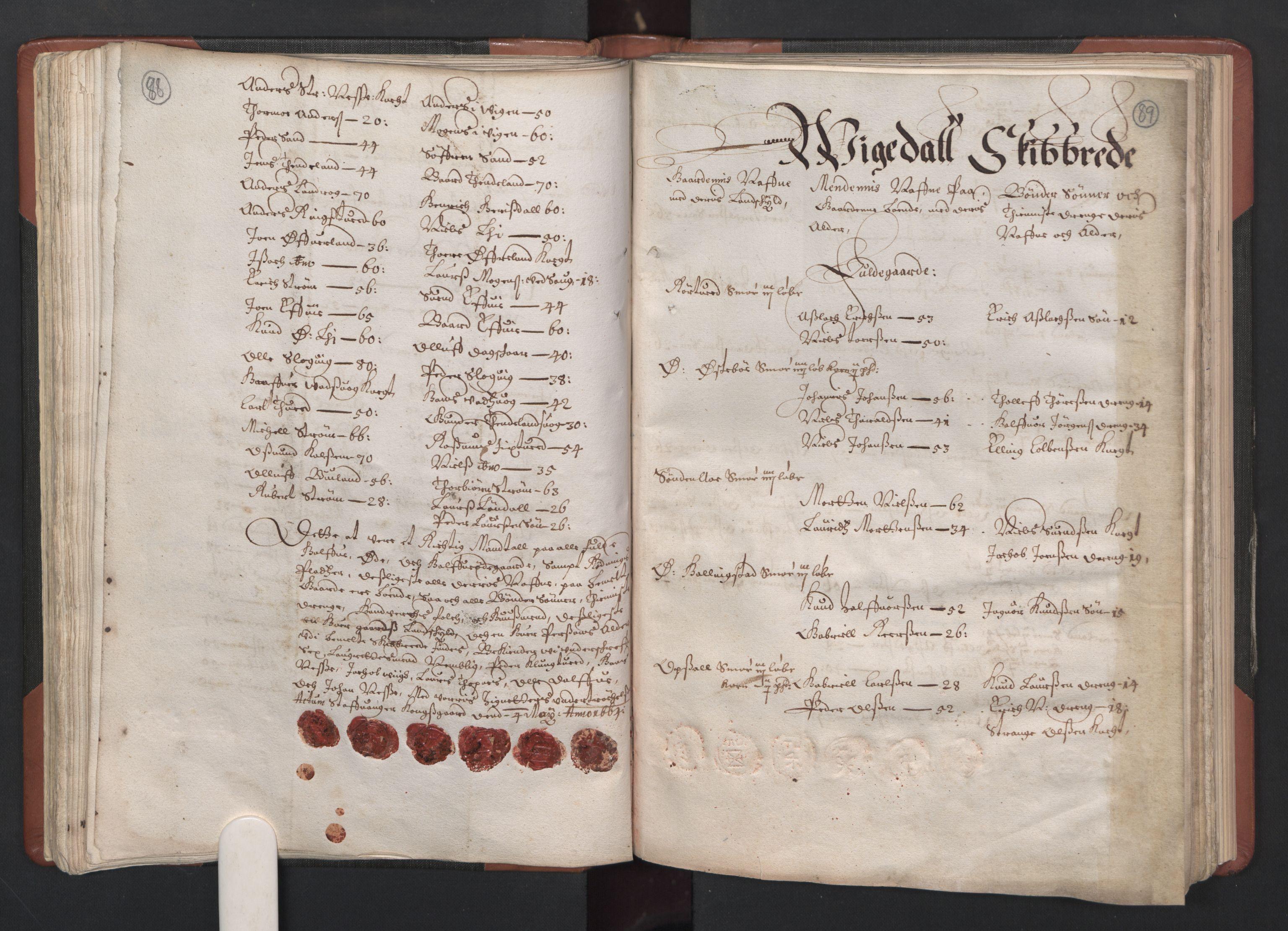 RA, Fogdenes og sorenskrivernes manntall 1664-1666, nr. 12: Ryfylke fogderi, 1664, s. 88-89