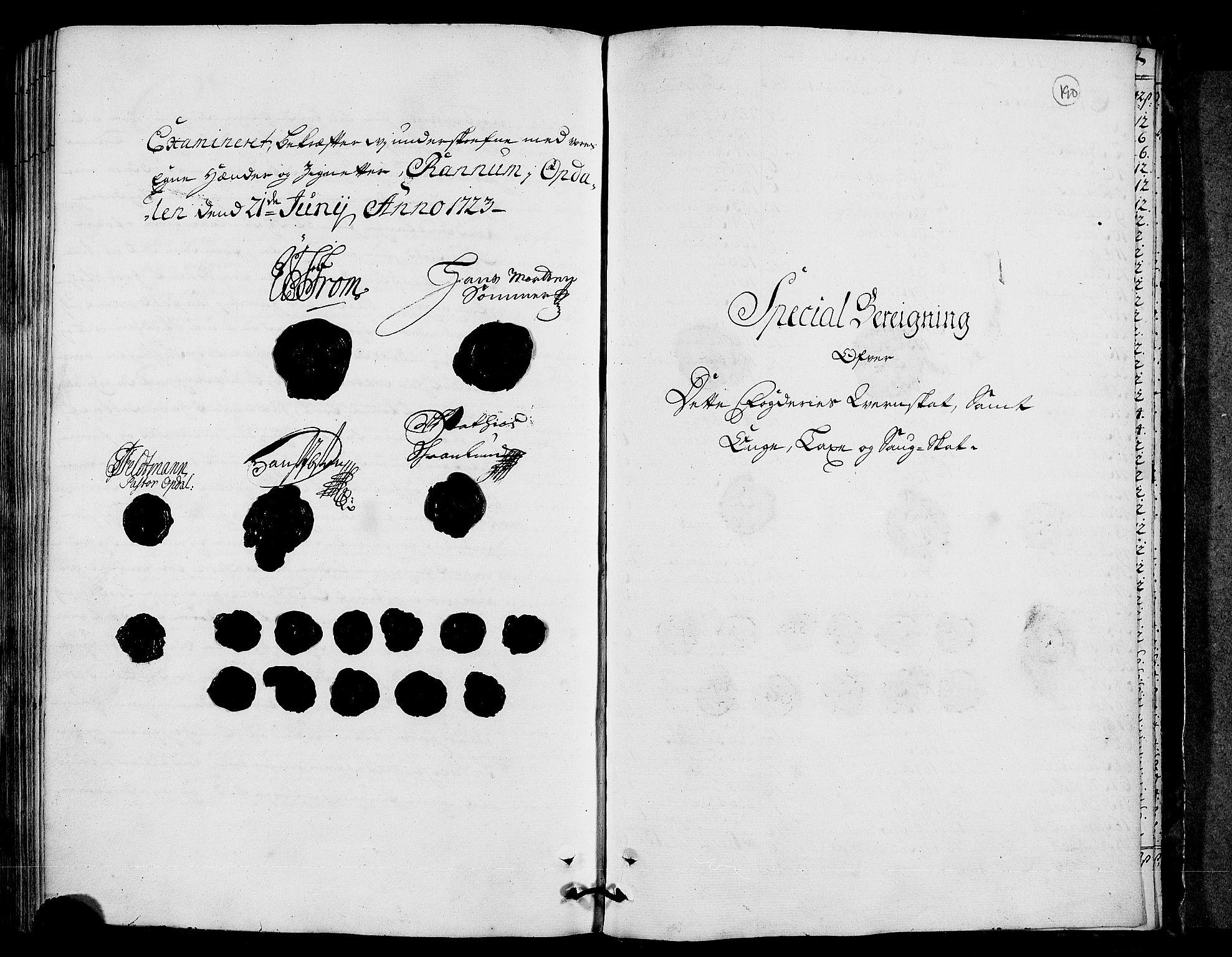 RA, Rentekammeret inntil 1814, Realistisk ordnet avdeling, N/Nb/Nbf/L0156: Orkdal eksaminasjonsprotokoll, 1723, s. 189b-190a