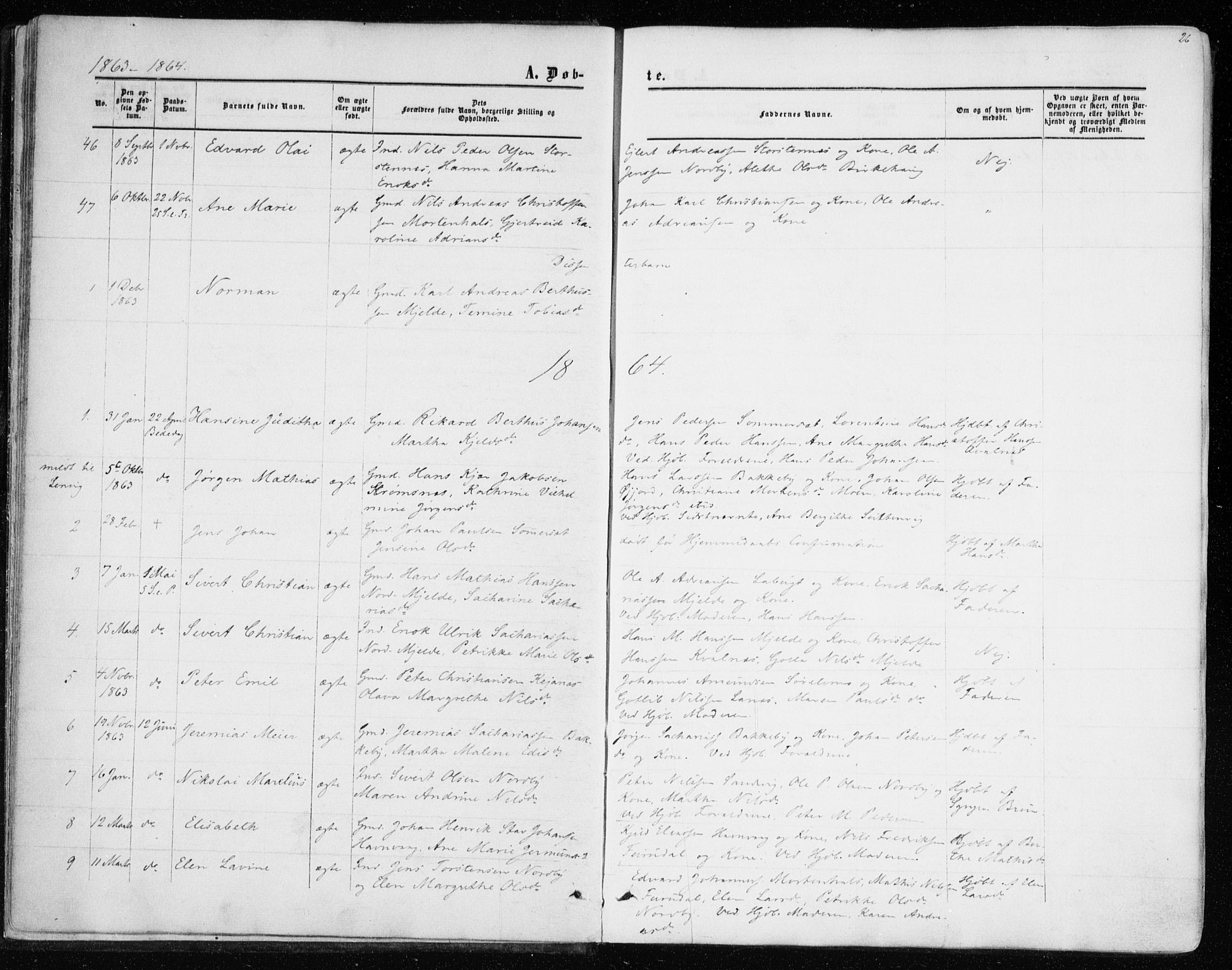 SATØ, Balsfjord sokneprestembete, Ministerialbok nr. 1, 1858-1870, s. 26