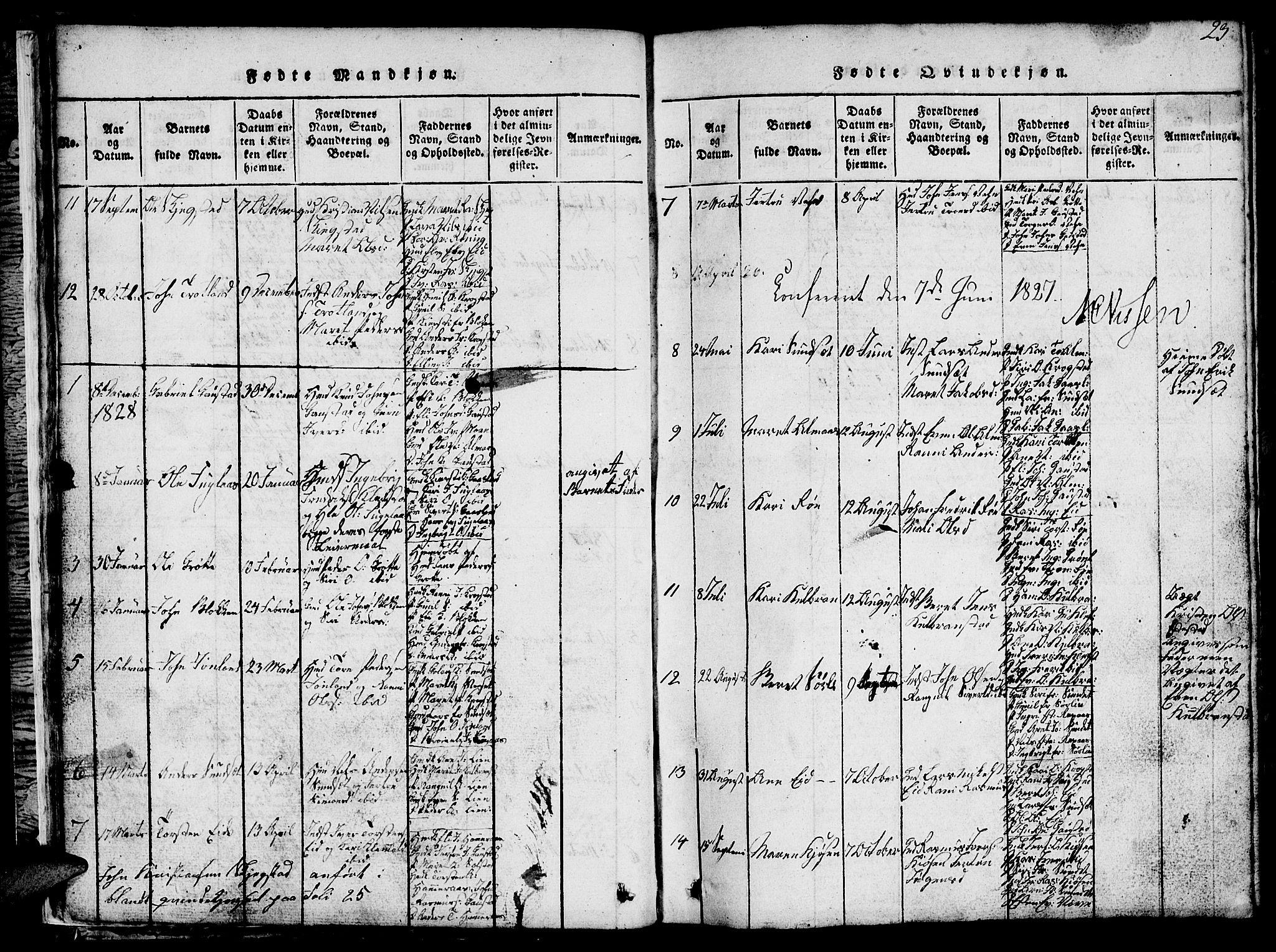 SAT, Ministerialprotokoller, klokkerbøker og fødselsregistre - Sør-Trøndelag, 694/L1130: Klokkerbok nr. 694C02, 1816-1857, s. 23