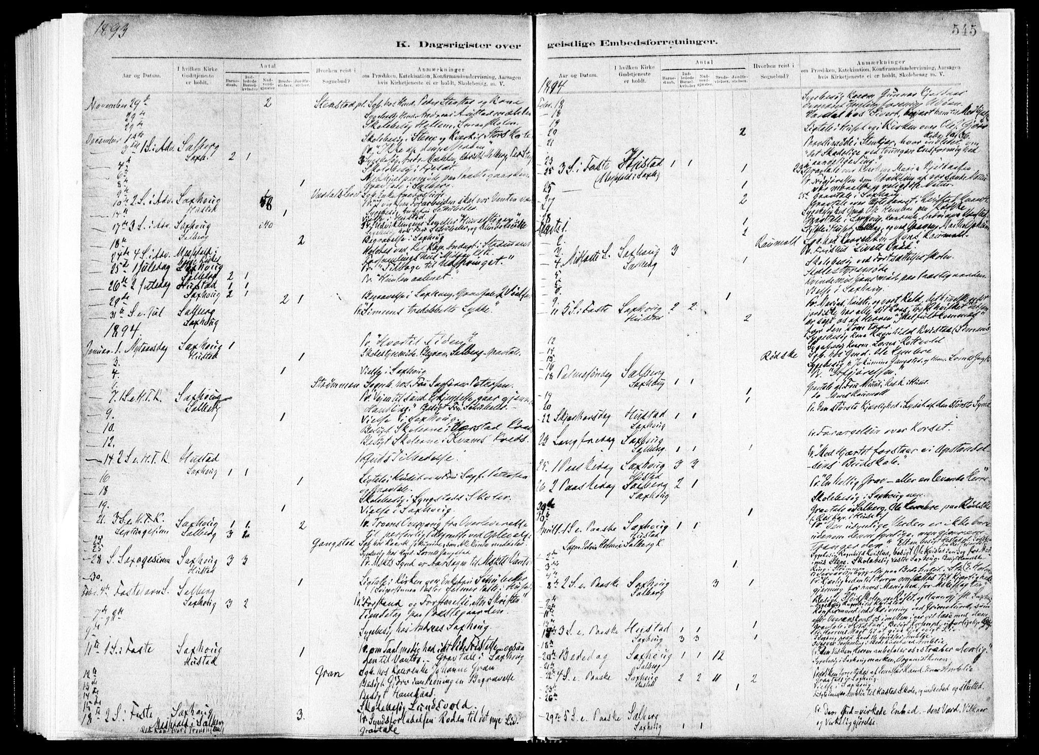 SAT, Ministerialprotokoller, klokkerbøker og fødselsregistre - Nord-Trøndelag, 730/L0285: Ministerialbok nr. 730A10, 1879-1914, s. 545