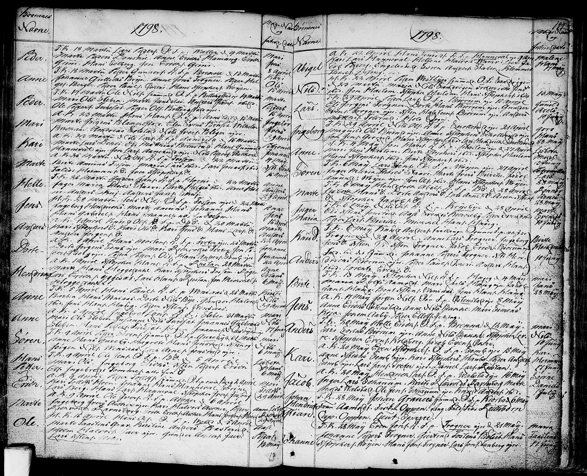 SAO, Asker prestekontor Kirkebøker, F/Fa/L0003: Ministerialbok nr. I 3, 1767-1807, s. 144