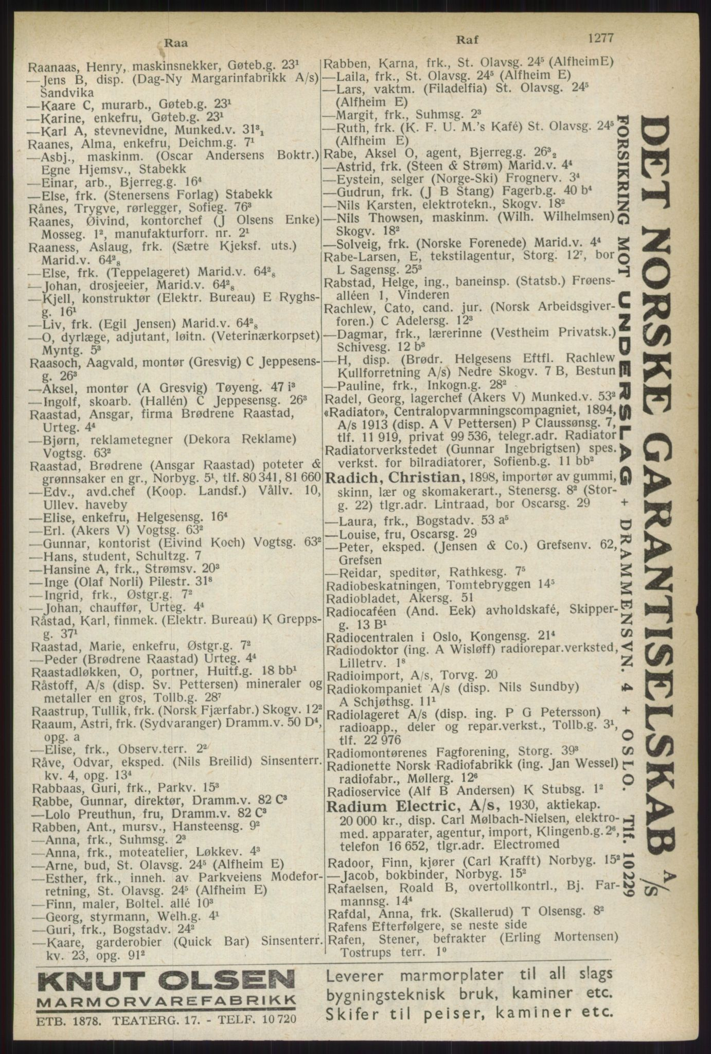 PUBL, Kristiania/Oslo adressebok, 1937, s. 1277