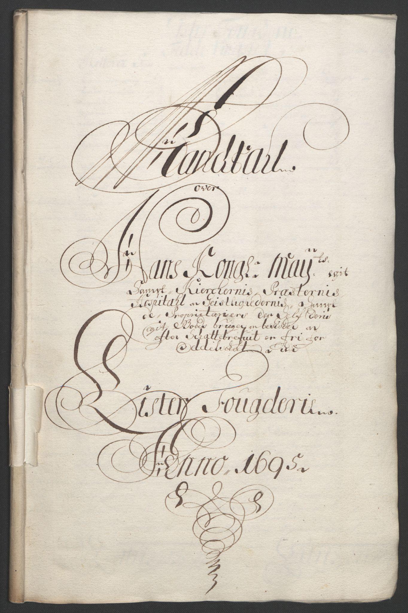 RA, Rentekammeret inntil 1814, Reviderte regnskaper, Fogderegnskap, R43/L2545: Fogderegnskap Lista og Mandal, 1694-1695, s. 274