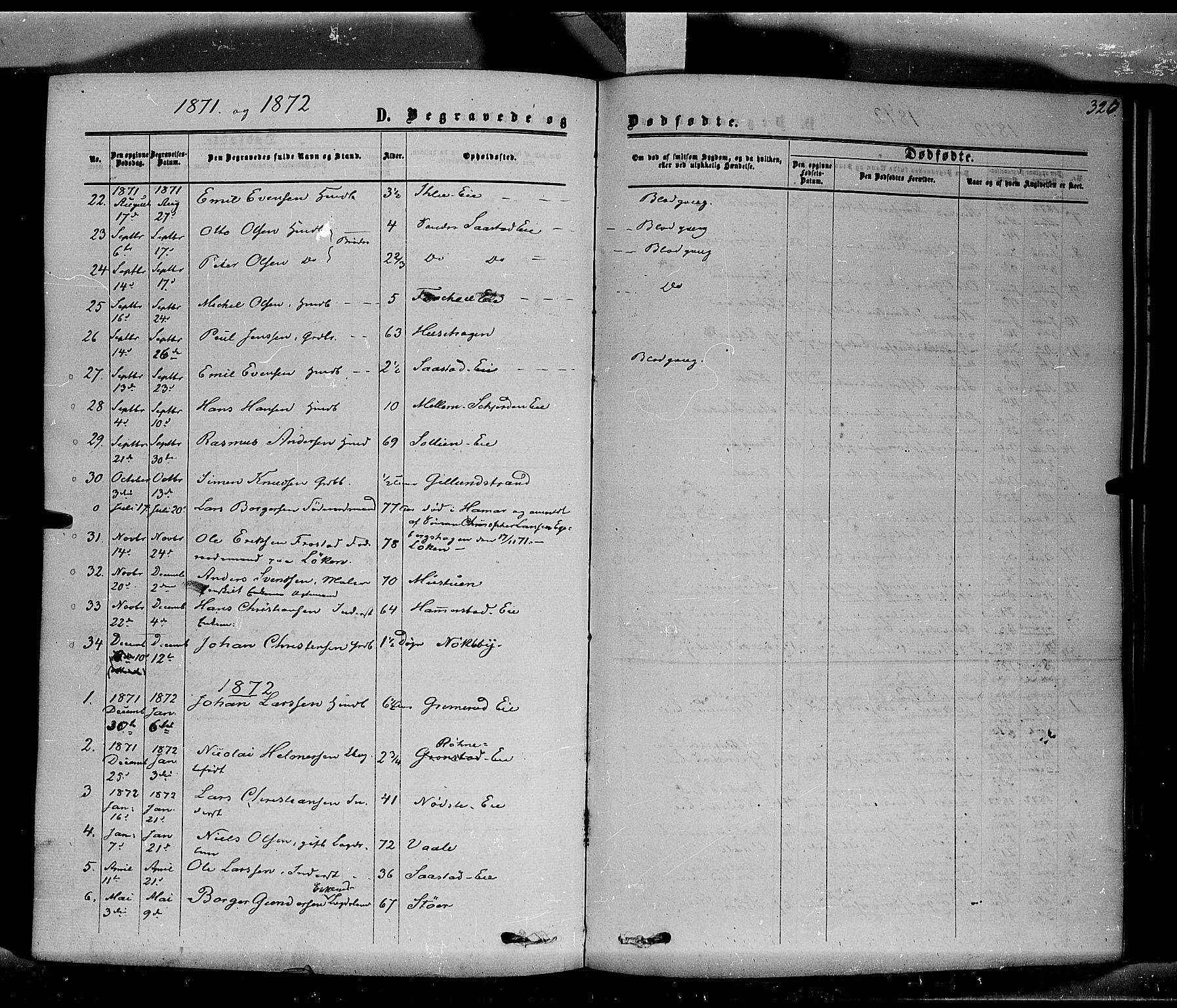 SAH, Stange prestekontor, K/L0013: Ministerialbok nr. 13, 1862-1879, s. 326