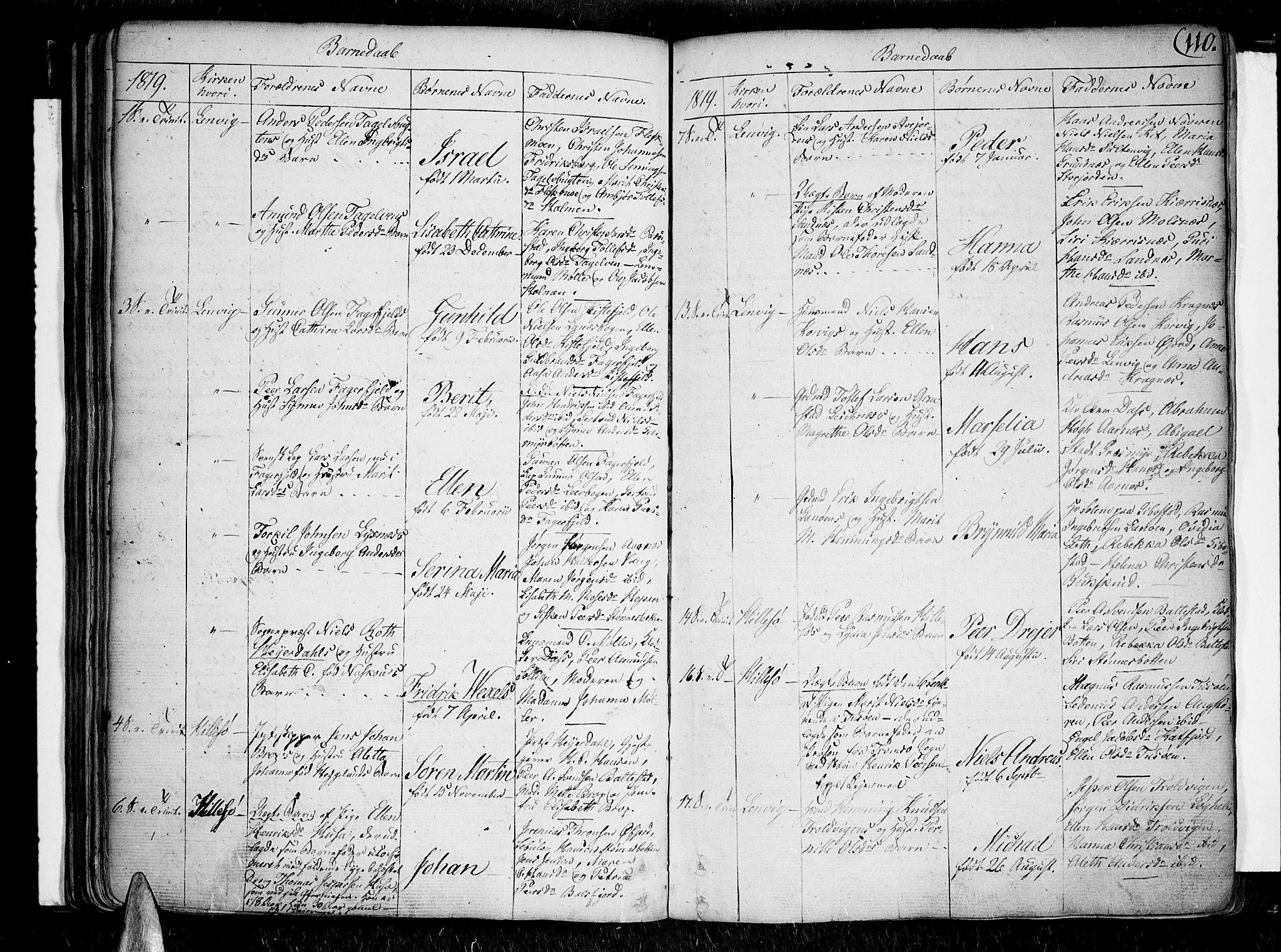 SATØ, Lenvik sokneprestembete, H/Ha: Ministerialbok nr. 2, 1784-1820, s. 110