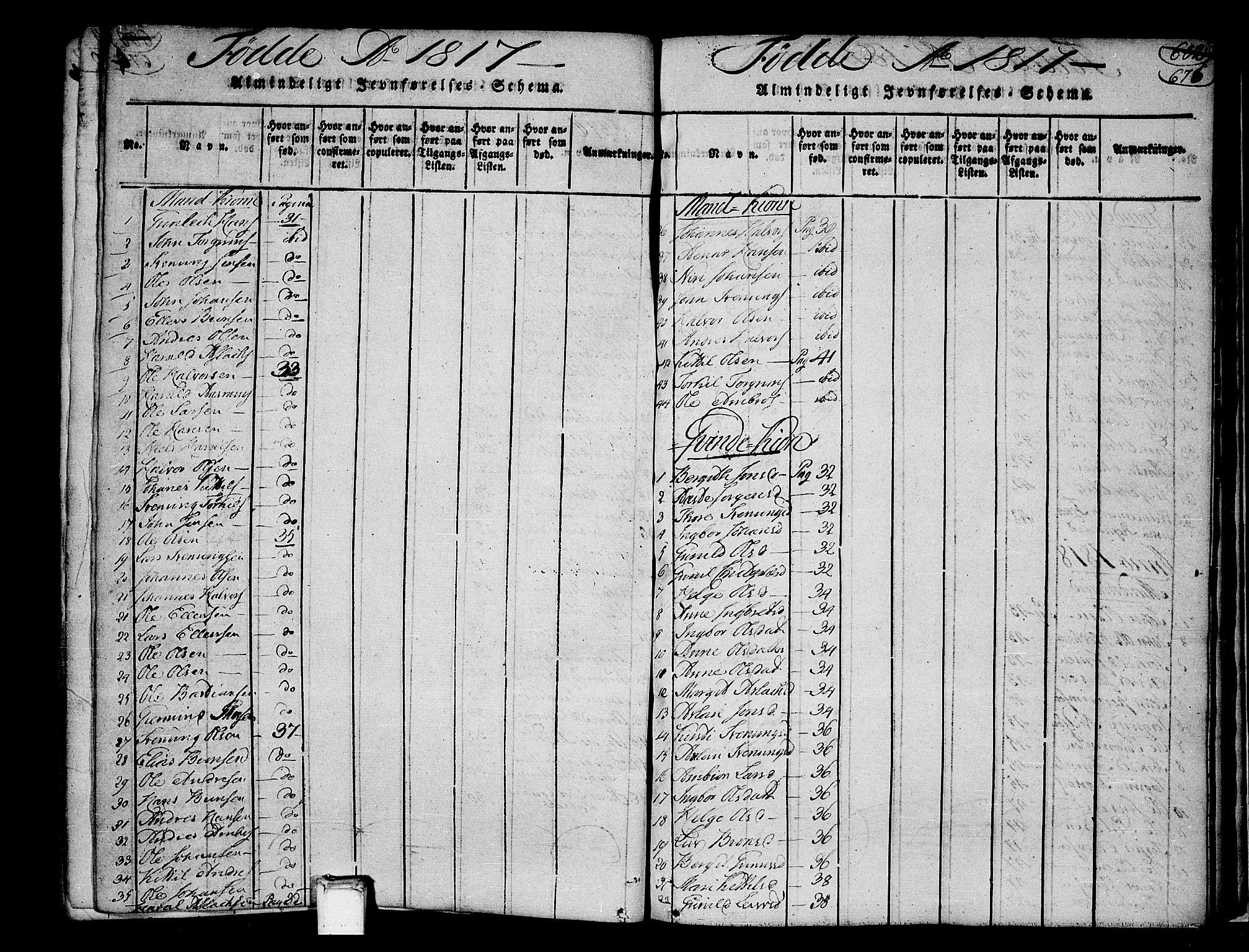 SAKO, Heddal kirkebøker, F/Fa/L0005: Ministerialbok nr. I 5, 1814-1837, s. 675-676