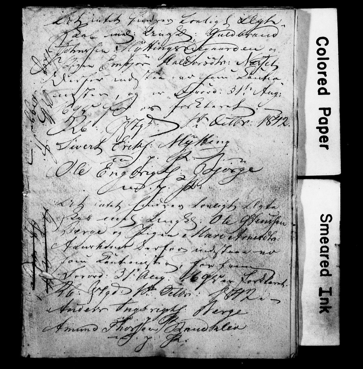 SAH, Ringebu prestekontor, Forlovererklæringer nr. -, 1842-1854