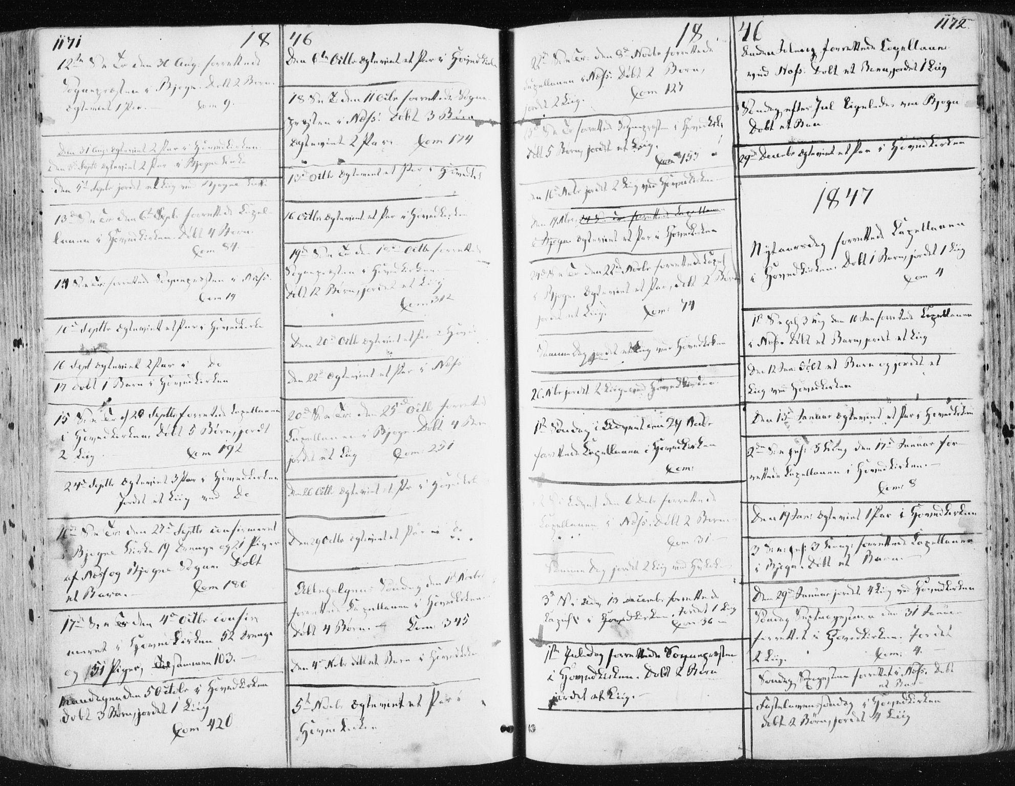 SAT, Ministerialprotokoller, klokkerbøker og fødselsregistre - Sør-Trøndelag, 659/L0736: Ministerialbok nr. 659A06, 1842-1856, s. 1171-1172