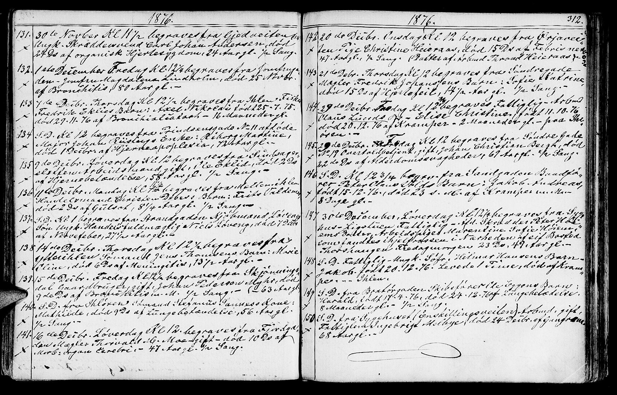 SAT, Ministerialprotokoller, klokkerbøker og fødselsregistre - Sør-Trøndelag, 602/L0142: Klokkerbok nr. 602C10, 1872-1894, s. 312