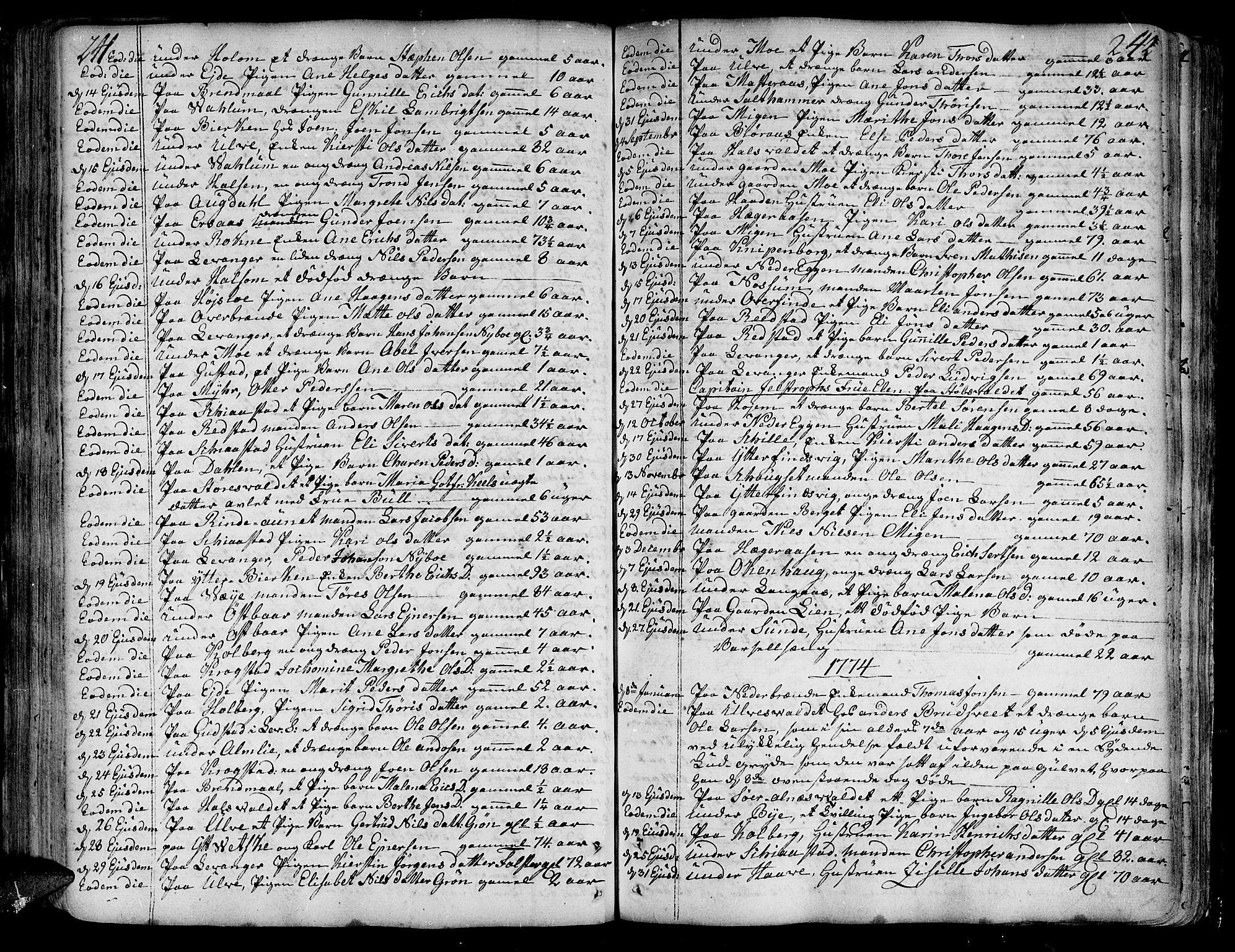 SAT, Ministerialprotokoller, klokkerbøker og fødselsregistre - Nord-Trøndelag, 717/L0141: Ministerialbok nr. 717A01, 1747-1803, s. 241-242