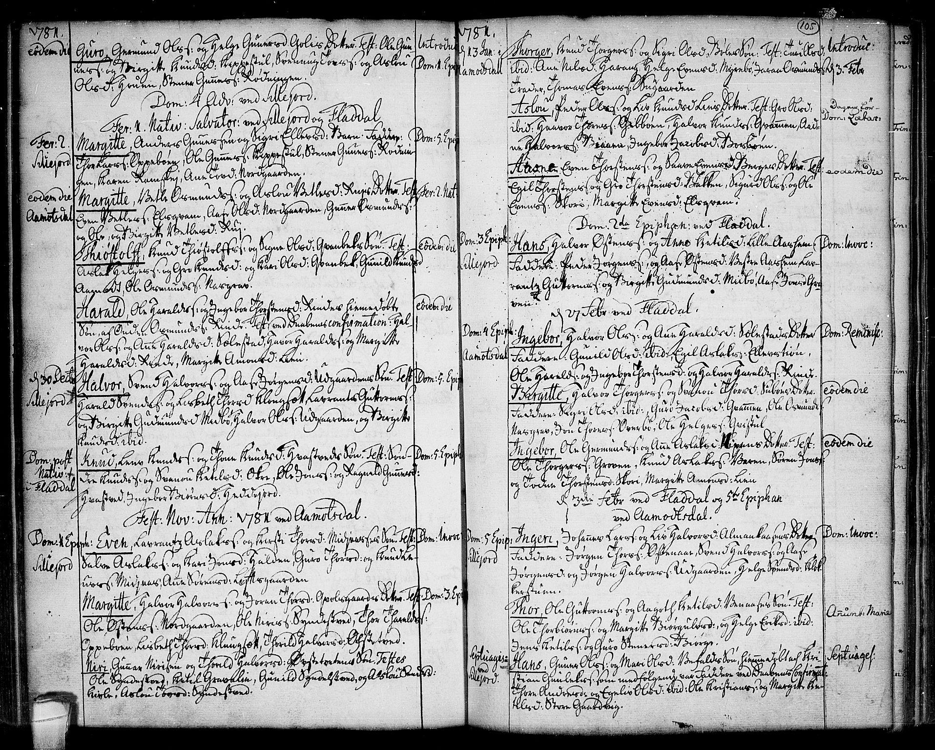 SAKO, Seljord kirkebøker, F/Fa/L0007: Ministerialbok nr. I 7, 1755-1800, s. 105
