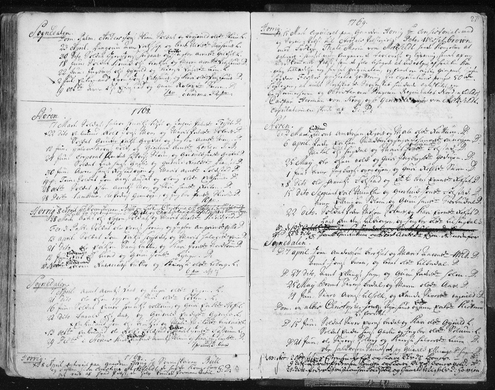 SAT, Ministerialprotokoller, klokkerbøker og fødselsregistre - Sør-Trøndelag, 687/L0991: Ministerialbok nr. 687A02, 1747-1790, s. 271