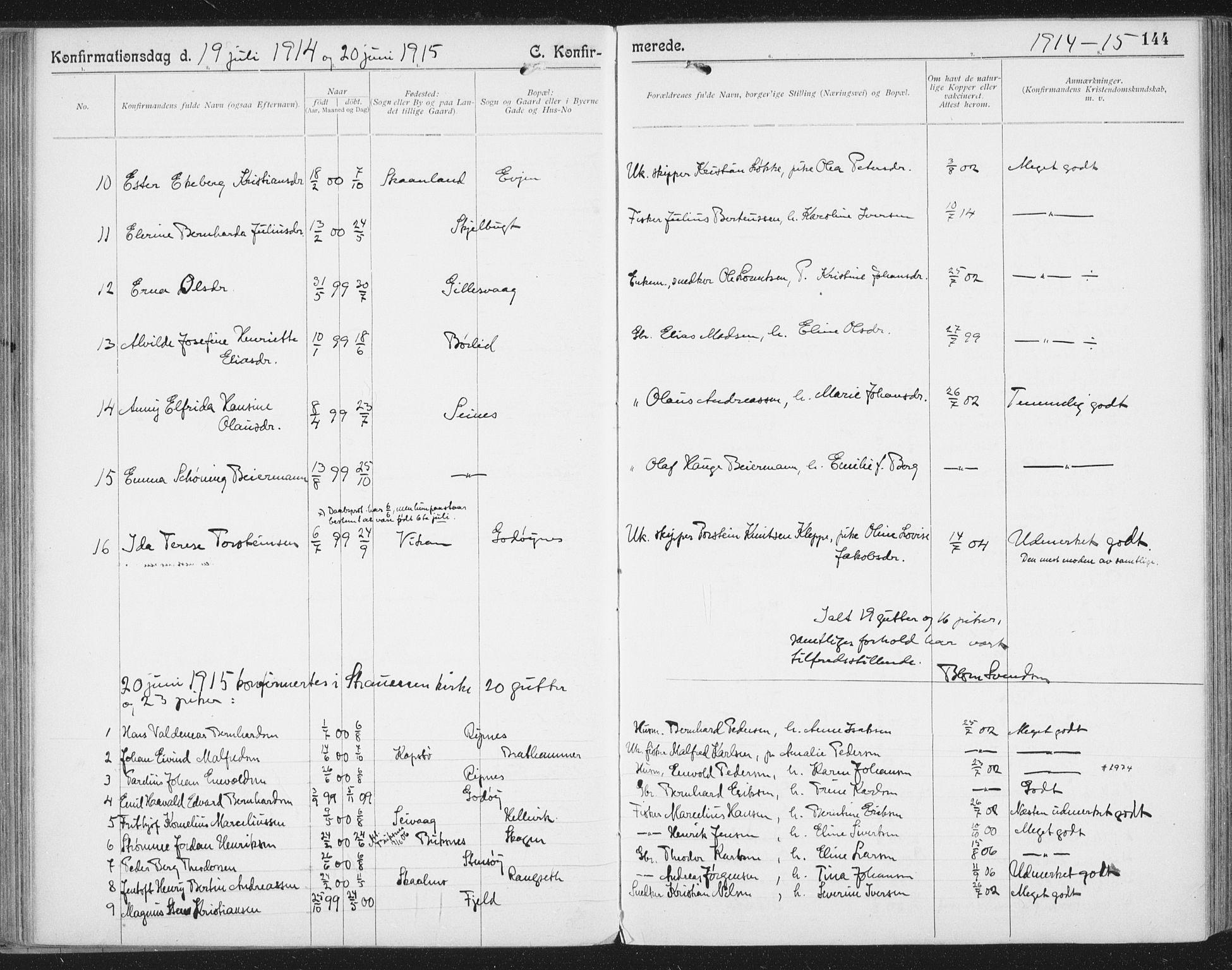 SAT, Ministerialprotokoller, klokkerbøker og fødselsregistre - Nordland, 804/L0081: Ministerialbok nr. 804A02, 1901-1915, s. 144