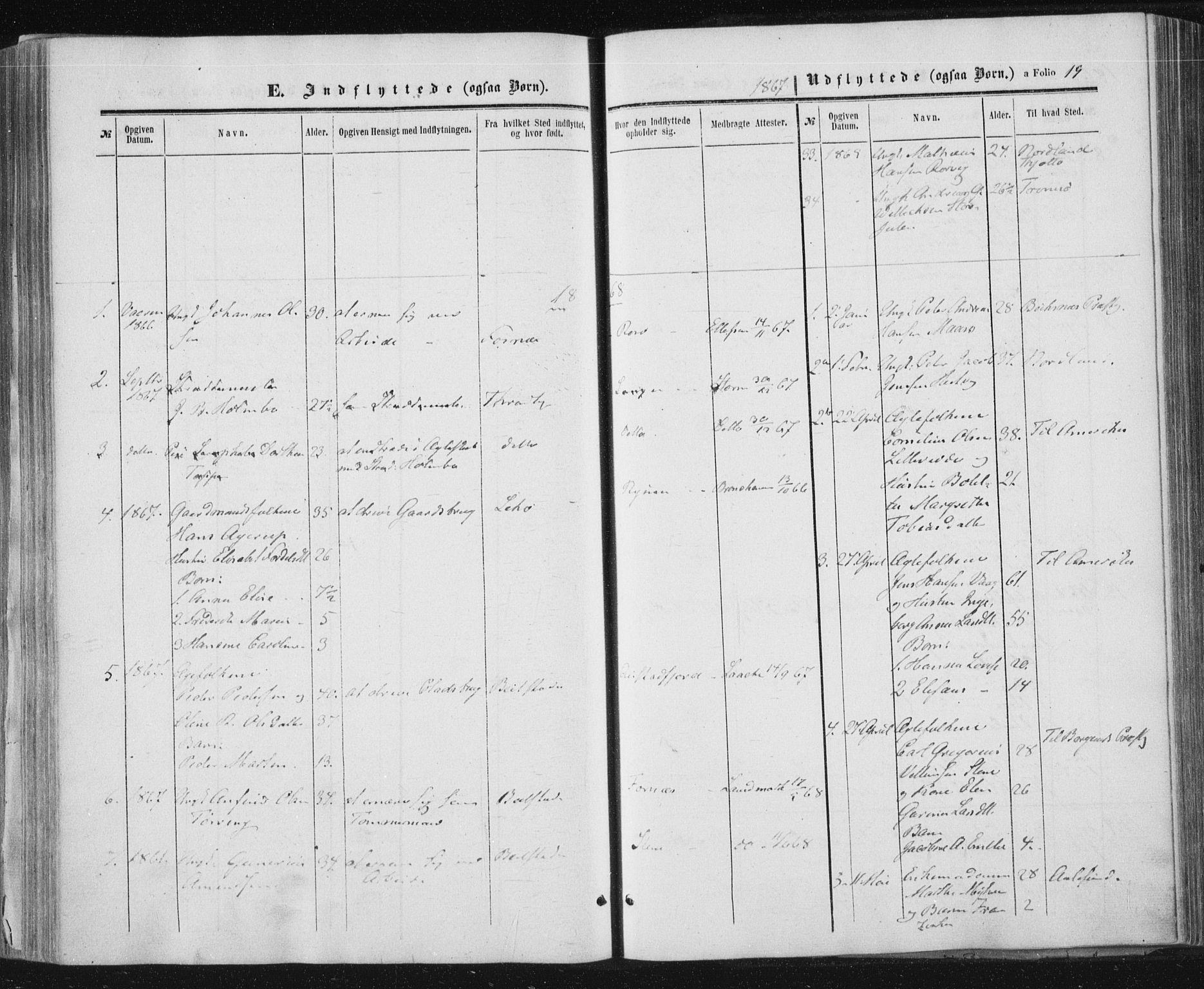 SAT, Ministerialprotokoller, klokkerbøker og fødselsregistre - Nord-Trøndelag, 784/L0670: Ministerialbok nr. 784A05, 1860-1876, s. 19