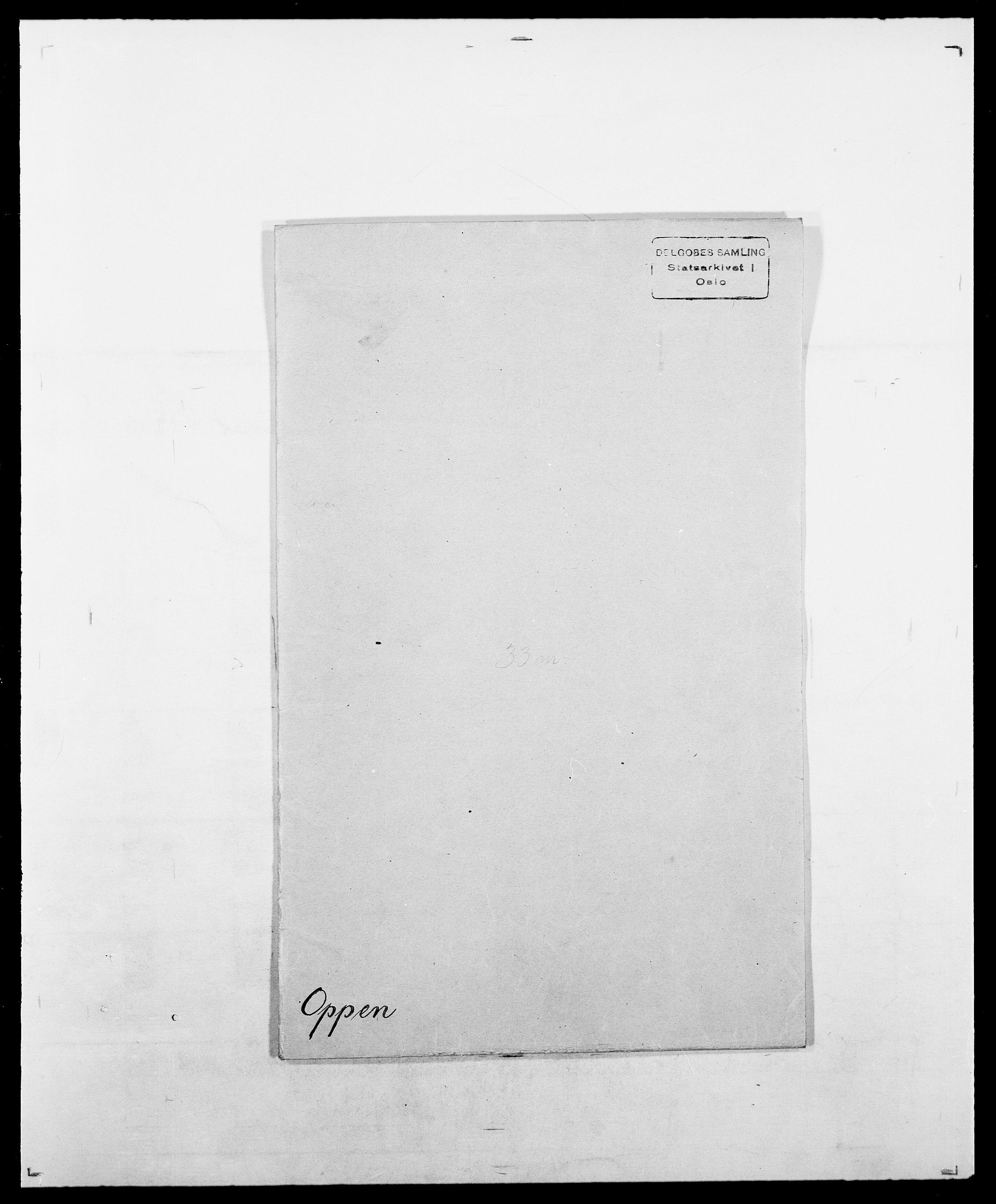 SAO, Delgobe, Charles Antoine - samling, D/Da/L0029: Obel - Oxholm, s. 317
