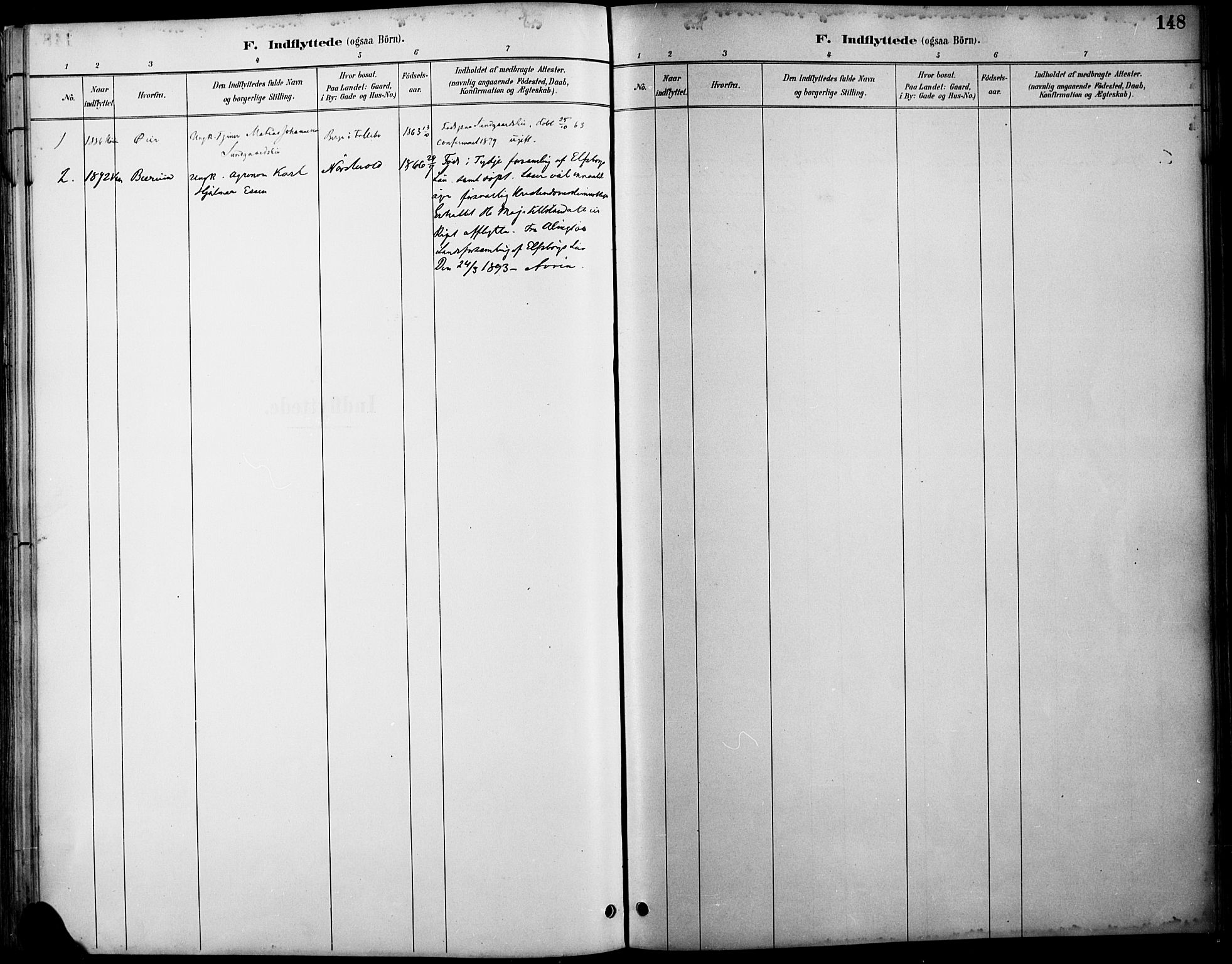 SAH, Østre Gausdal prestekontor, Ministerialbok nr. 2, 1887-1897, s. 148